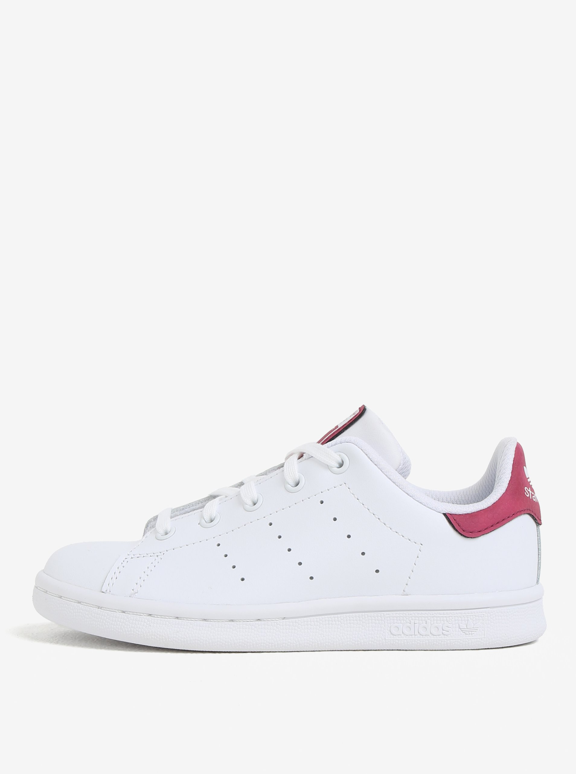 c4852632023 Ružovo-biele detské kožené tenisky adidas Originals Stan Smith C