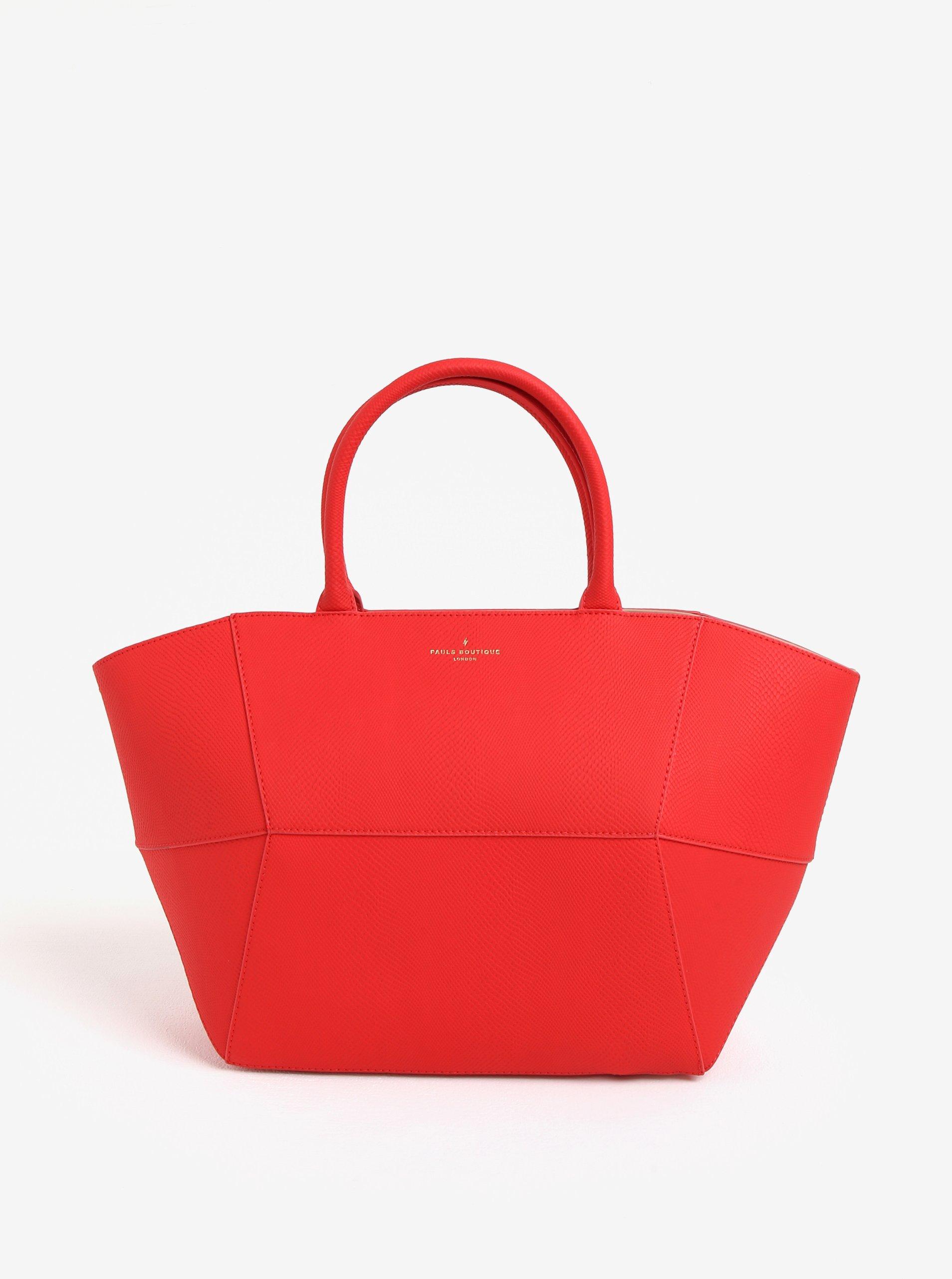 Červená velká kabelka Paul´s Boutique Bea