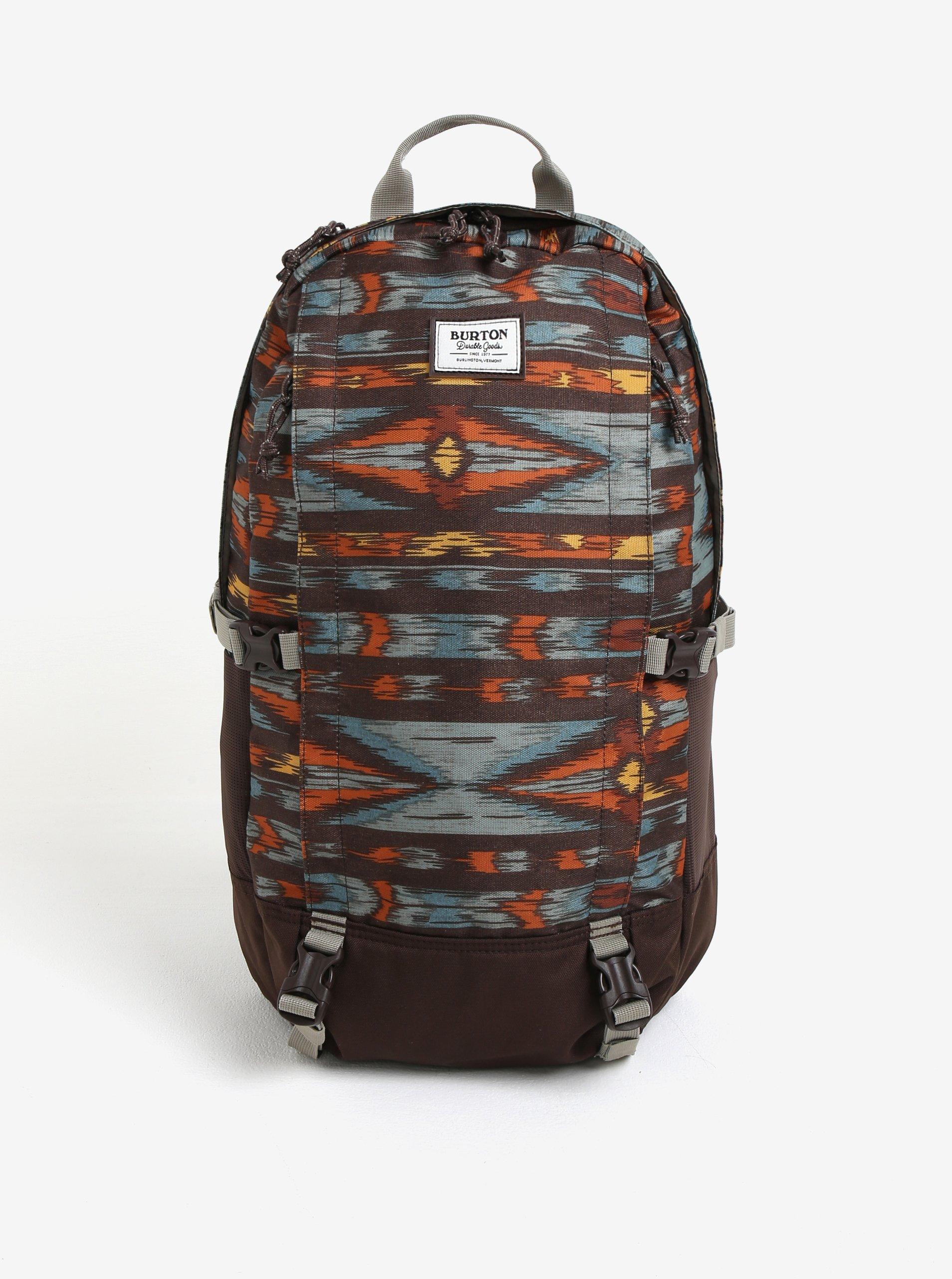 Hnědý vzorovaný batoh Burton Sleyton 23 l 8c7f040027