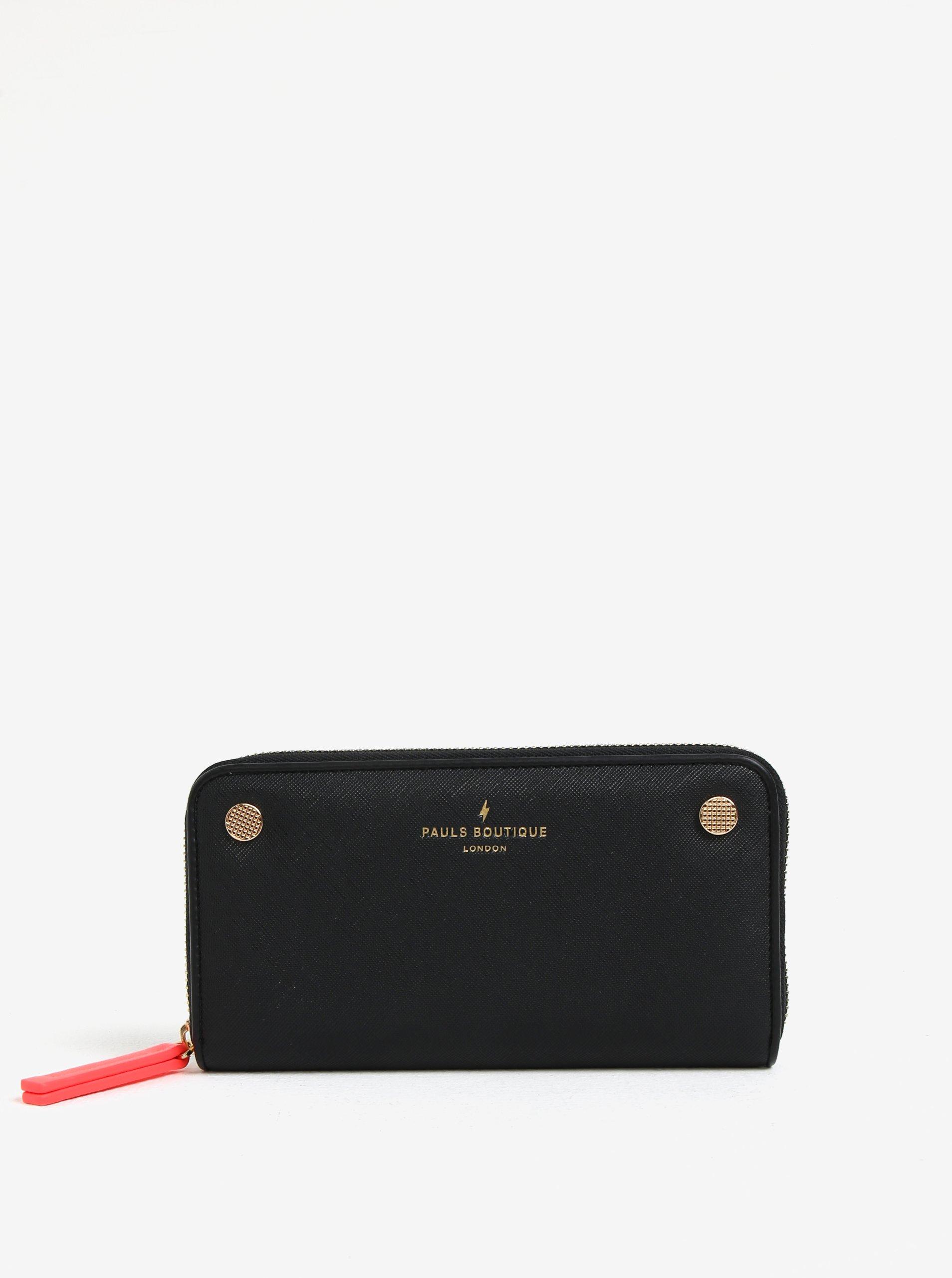 Černá velká peněženka s detaily ve zlaté barvě Paul´s Boutique Lizzie