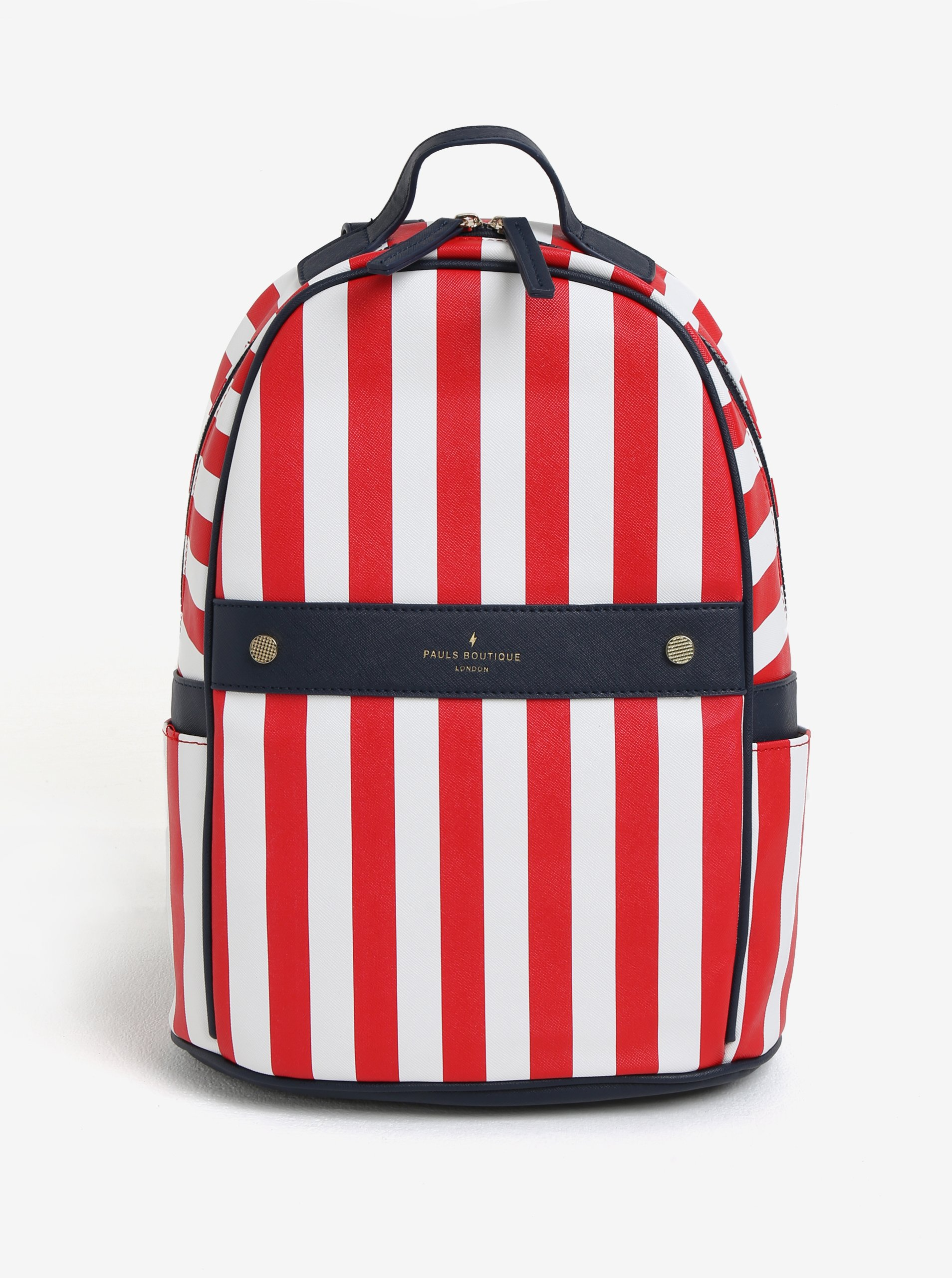 Bielo-červený pruhovaný batoh Paul's Boutique Rosa
