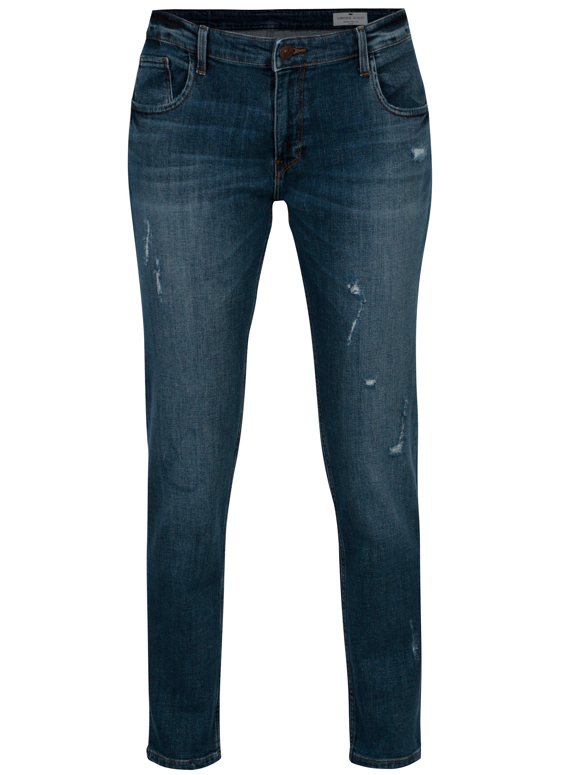 0ca2f7218d8 Tmavě modré sraight dámské džíny Cross Jeans