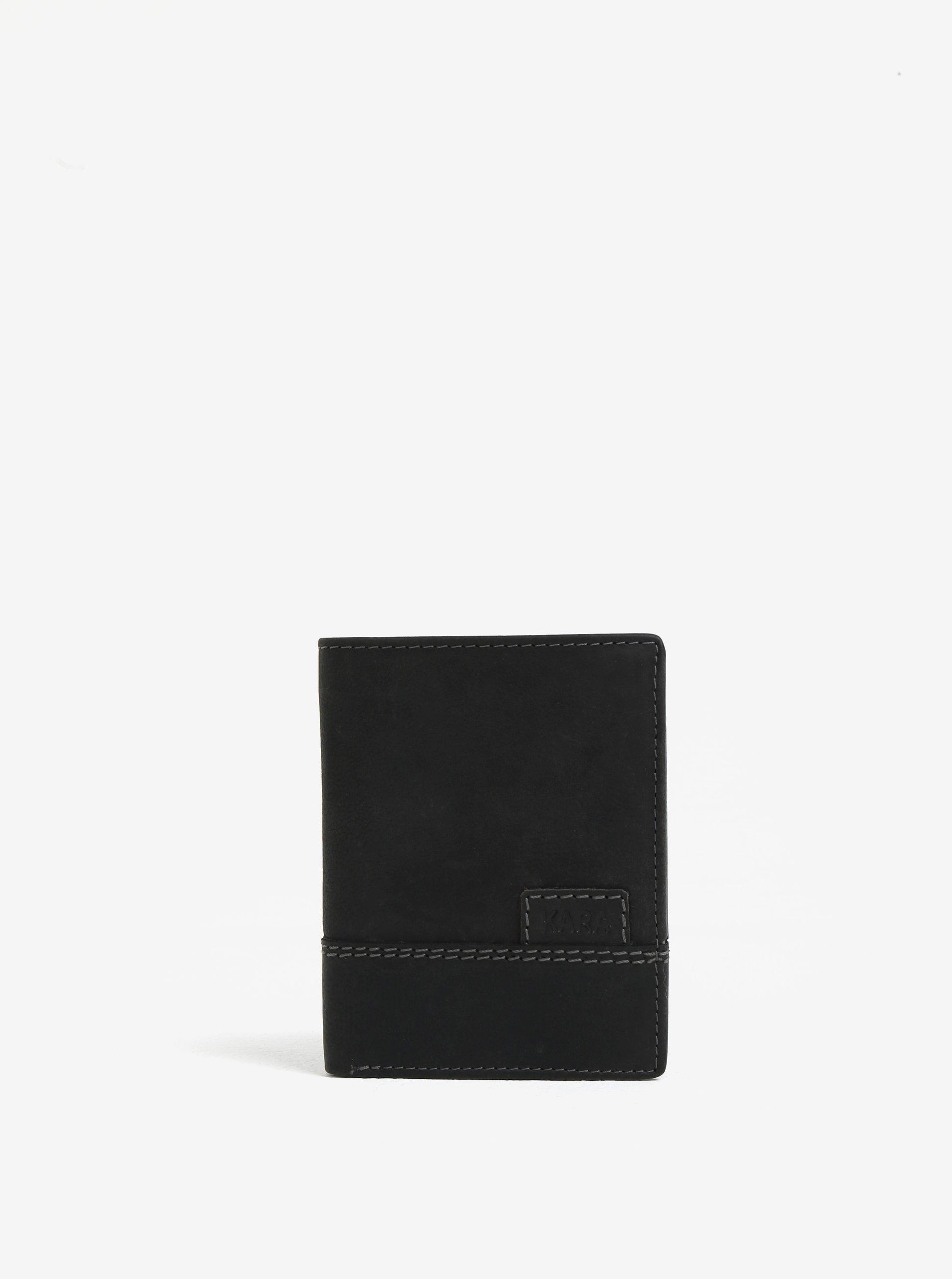 Fotografie Černá pánská kožená peněženka KARA