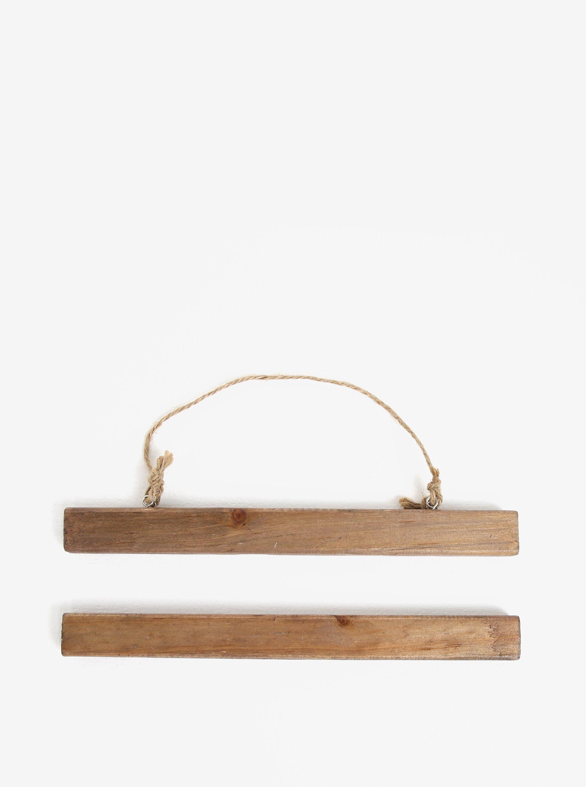 Tmavohnedý drevený držiak na plagáty Sass & Belle