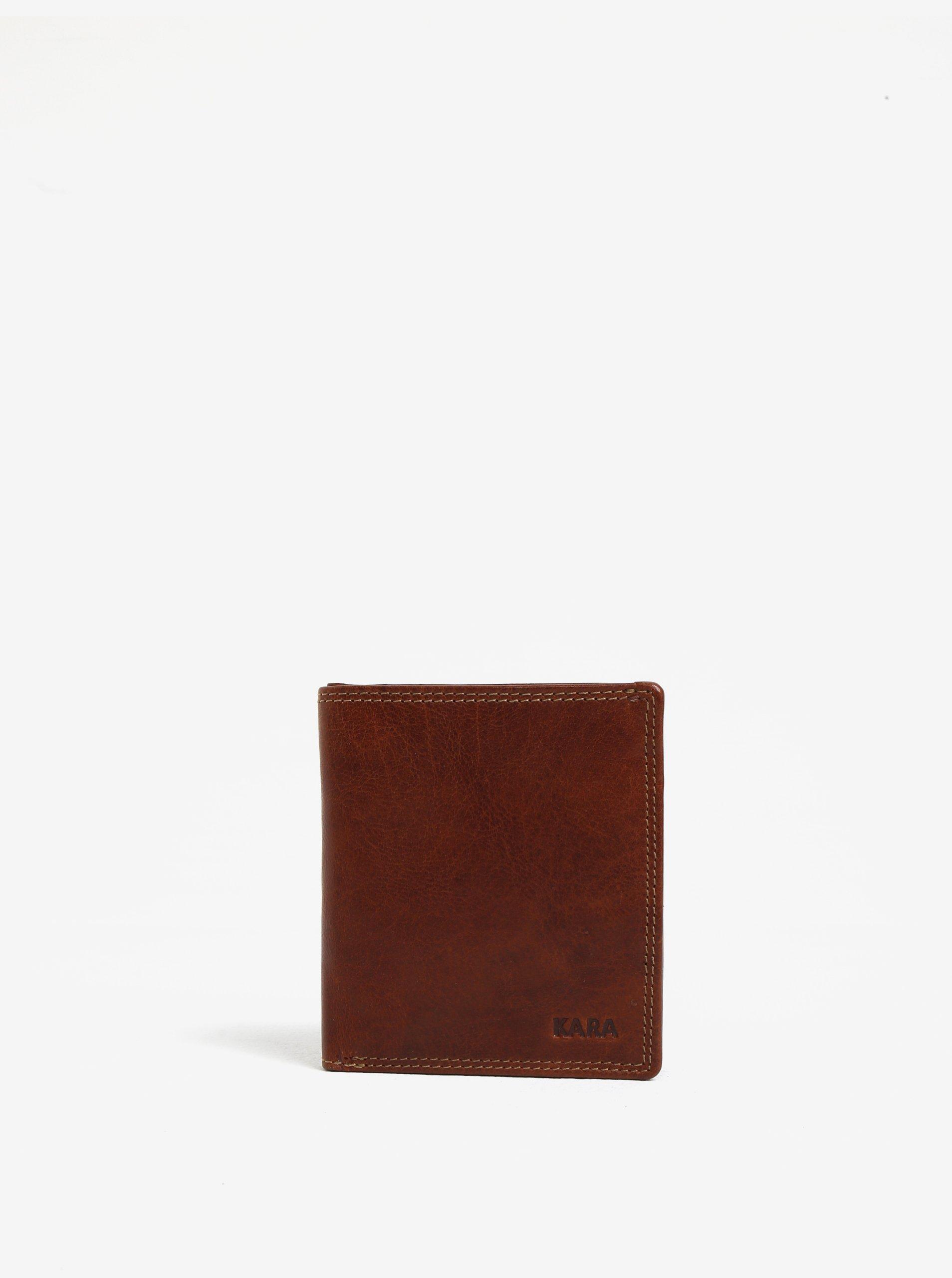Fotografie Hnědá pánská kožená peněženka KARA