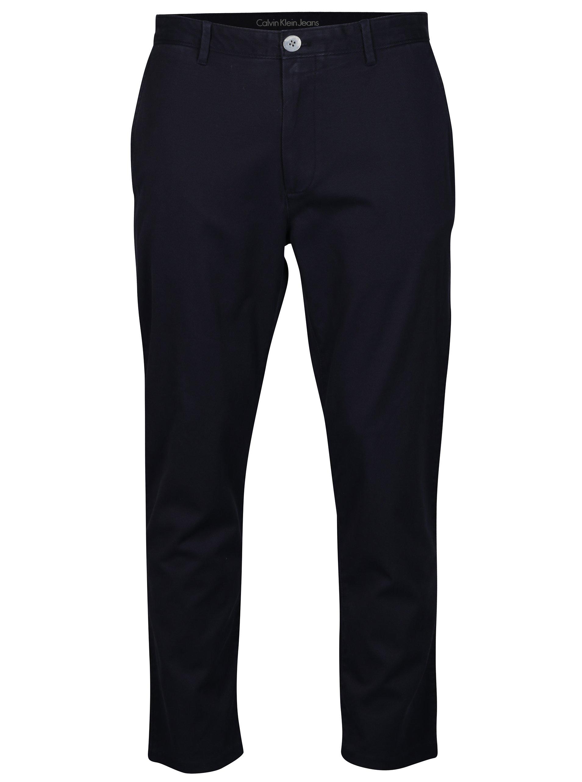 ced90d732c0 Modré pánské chino kalhoty Calvin Klein Jeans Geerd