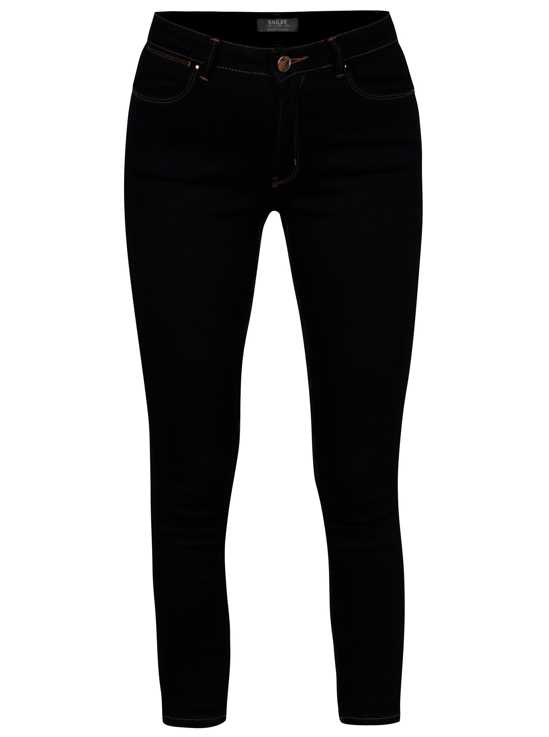 Tmavě modré zkrácené super skinny džíny Dorothy Perkins Bailey