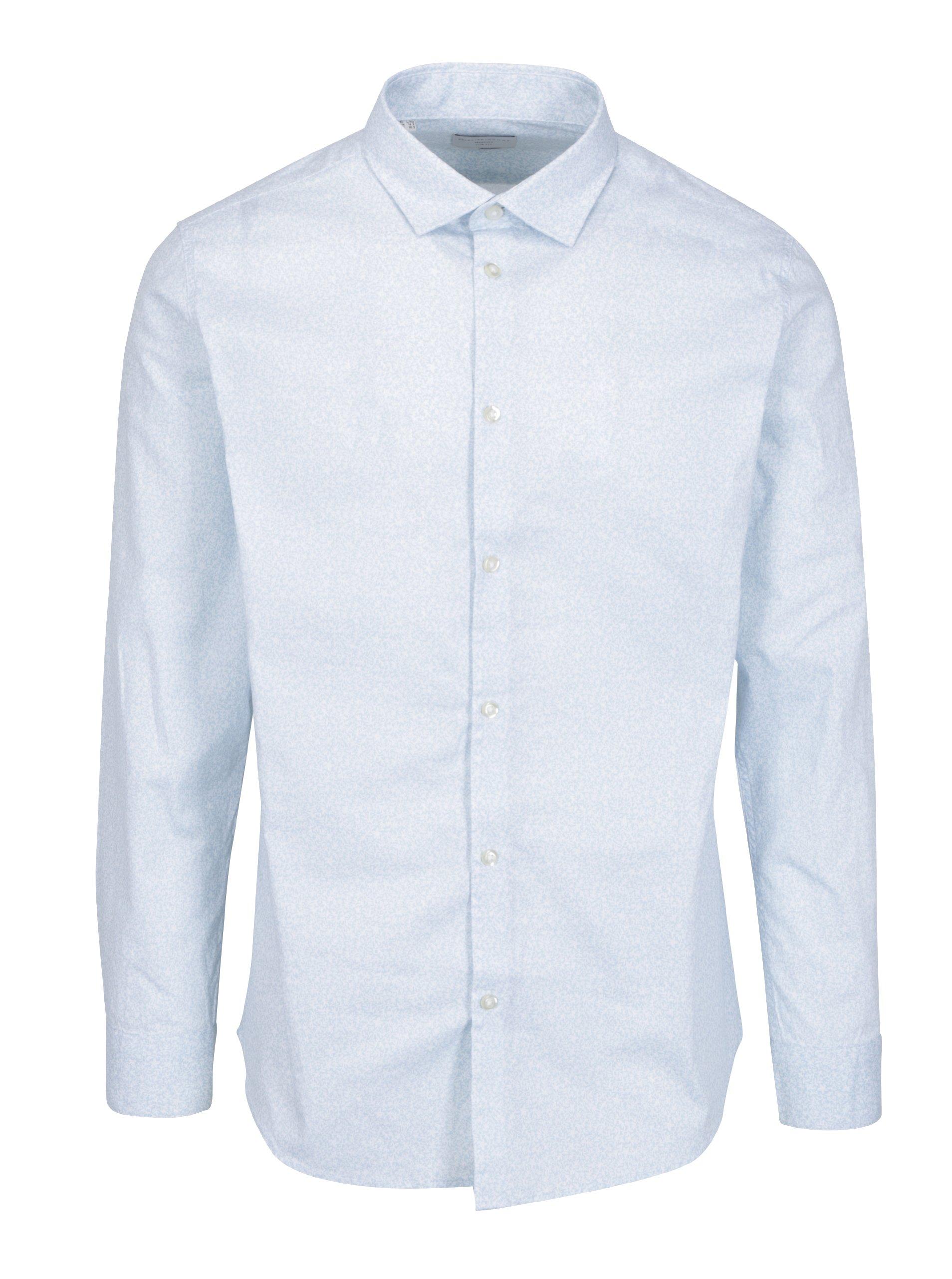 948306a6e3b Světle modrá vzorovaná slim fit košile Selected Homme One New