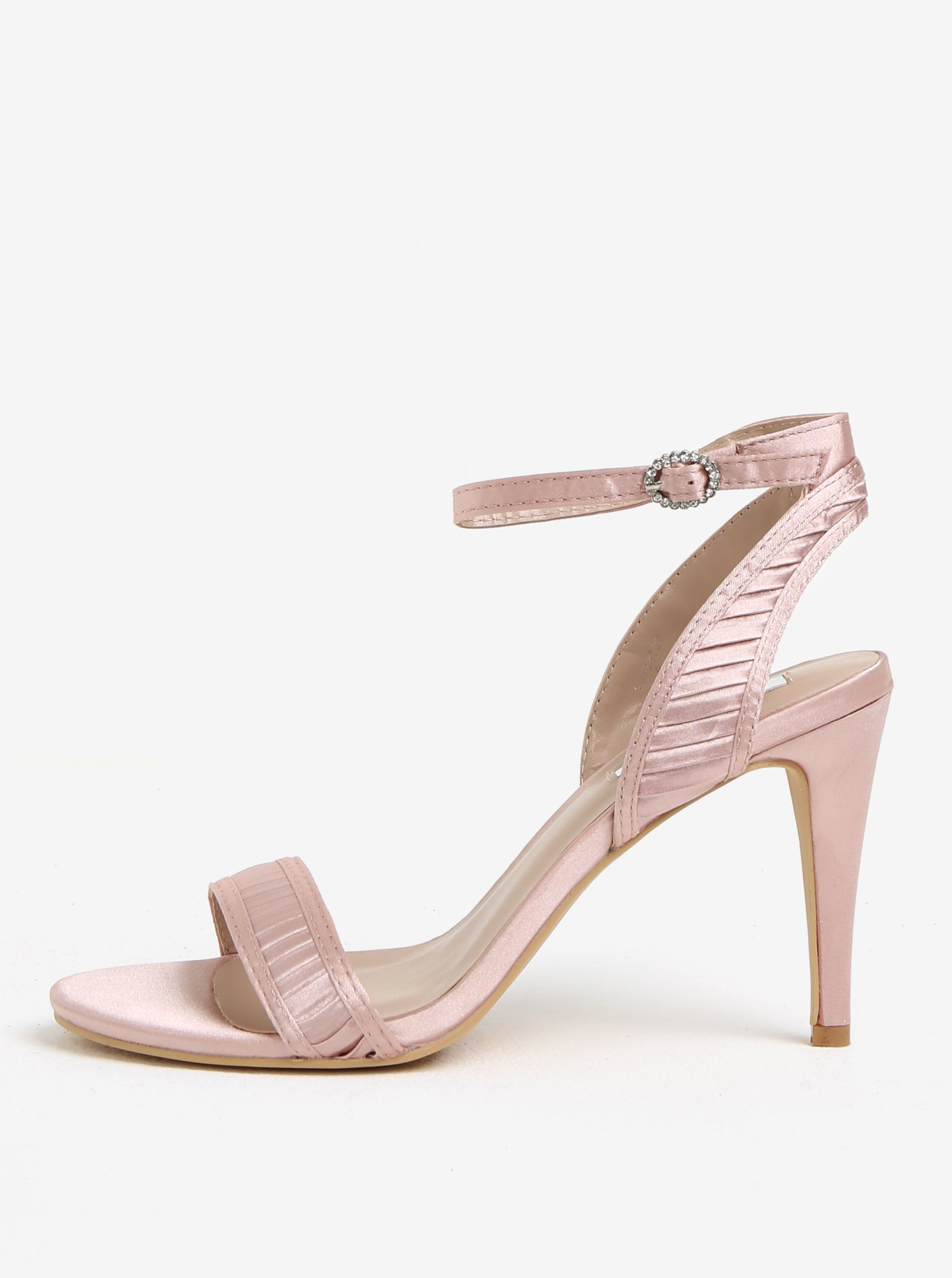 Světle růžové sandály na vysokém podpatku Dorothy Perkins