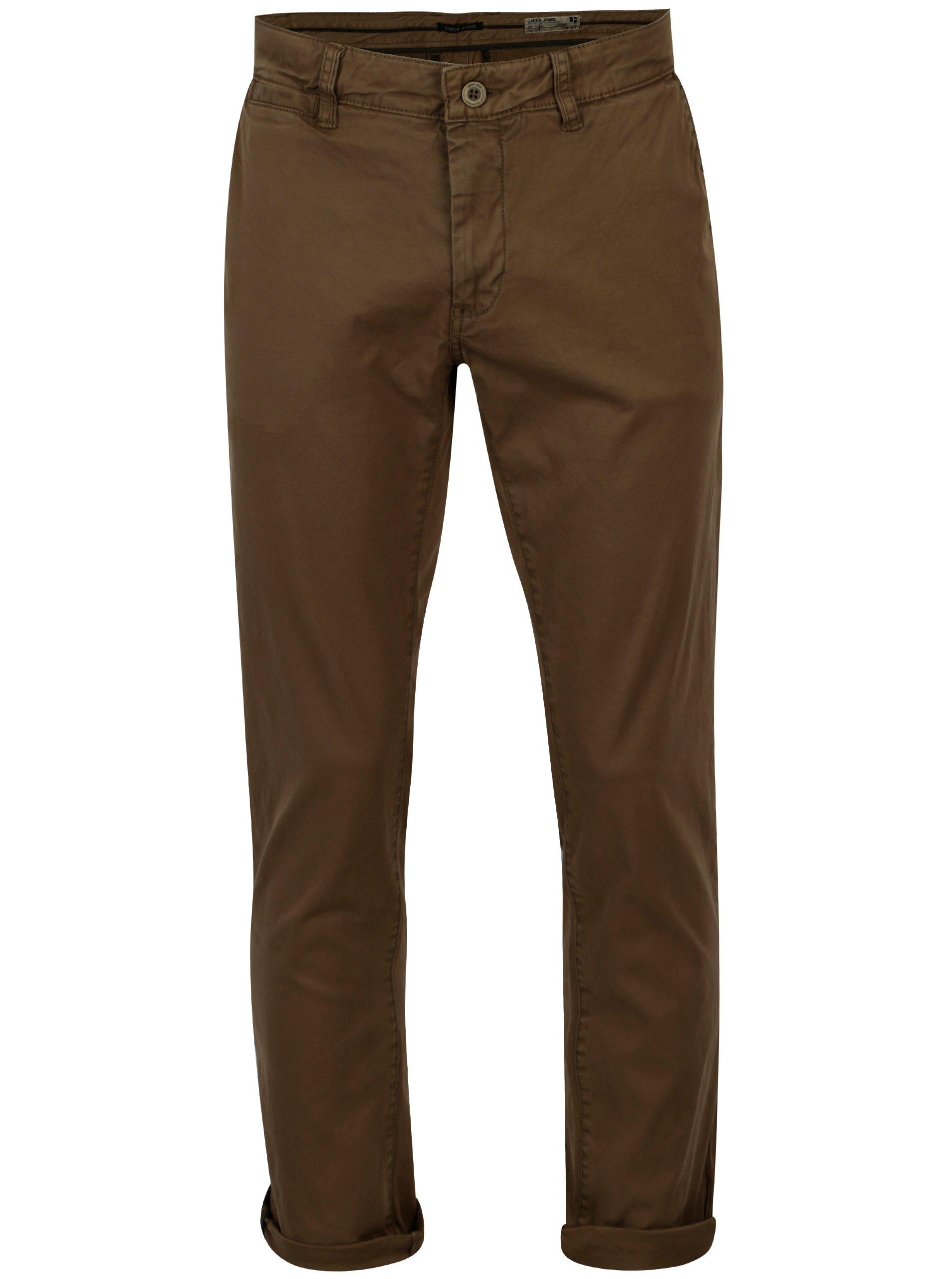 Khaki pánské slim fit chino kalhoty Garcia Jeans Savio 1432c619cc