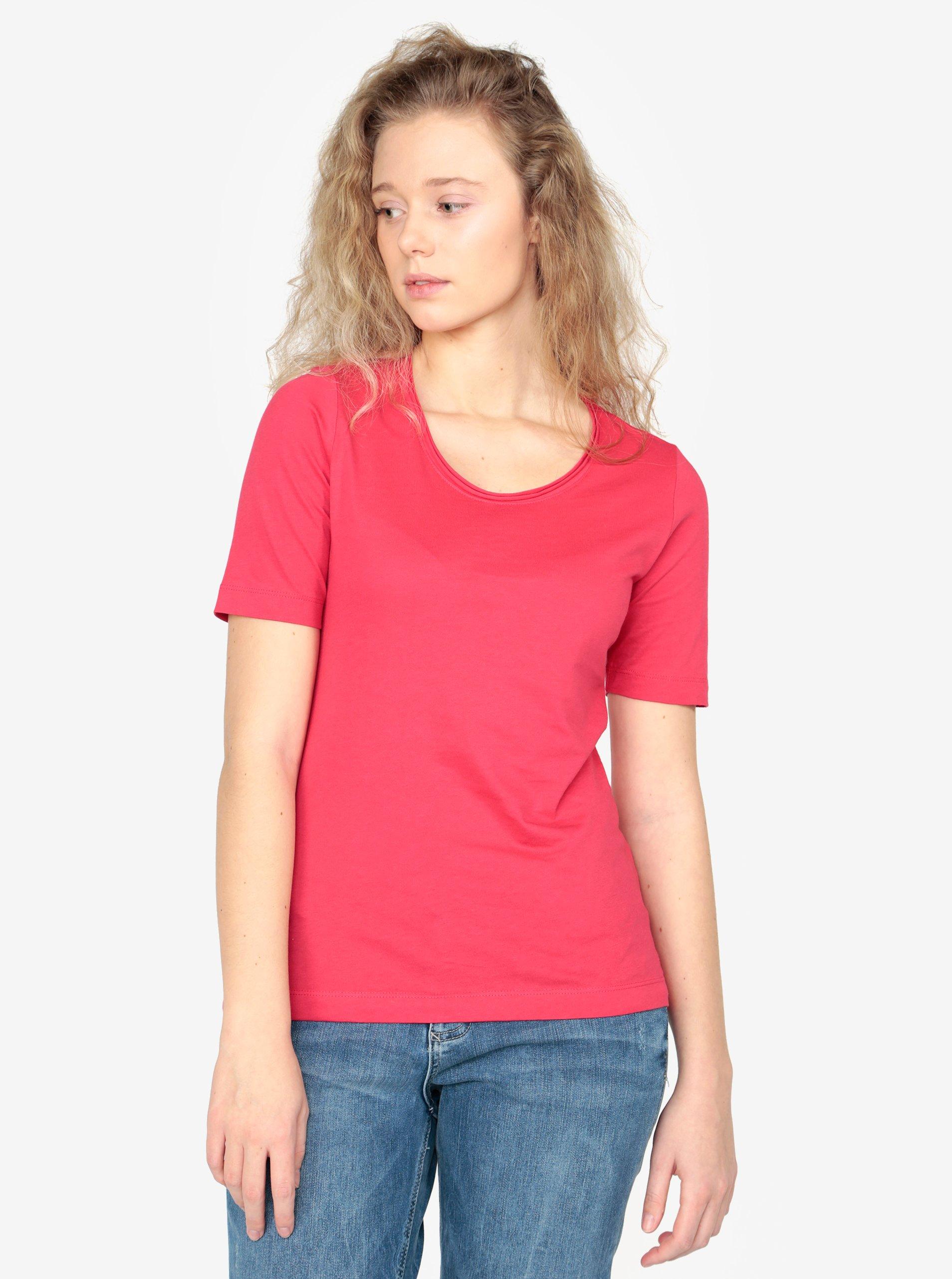 Růžové dámské basic tričko s.Oliver