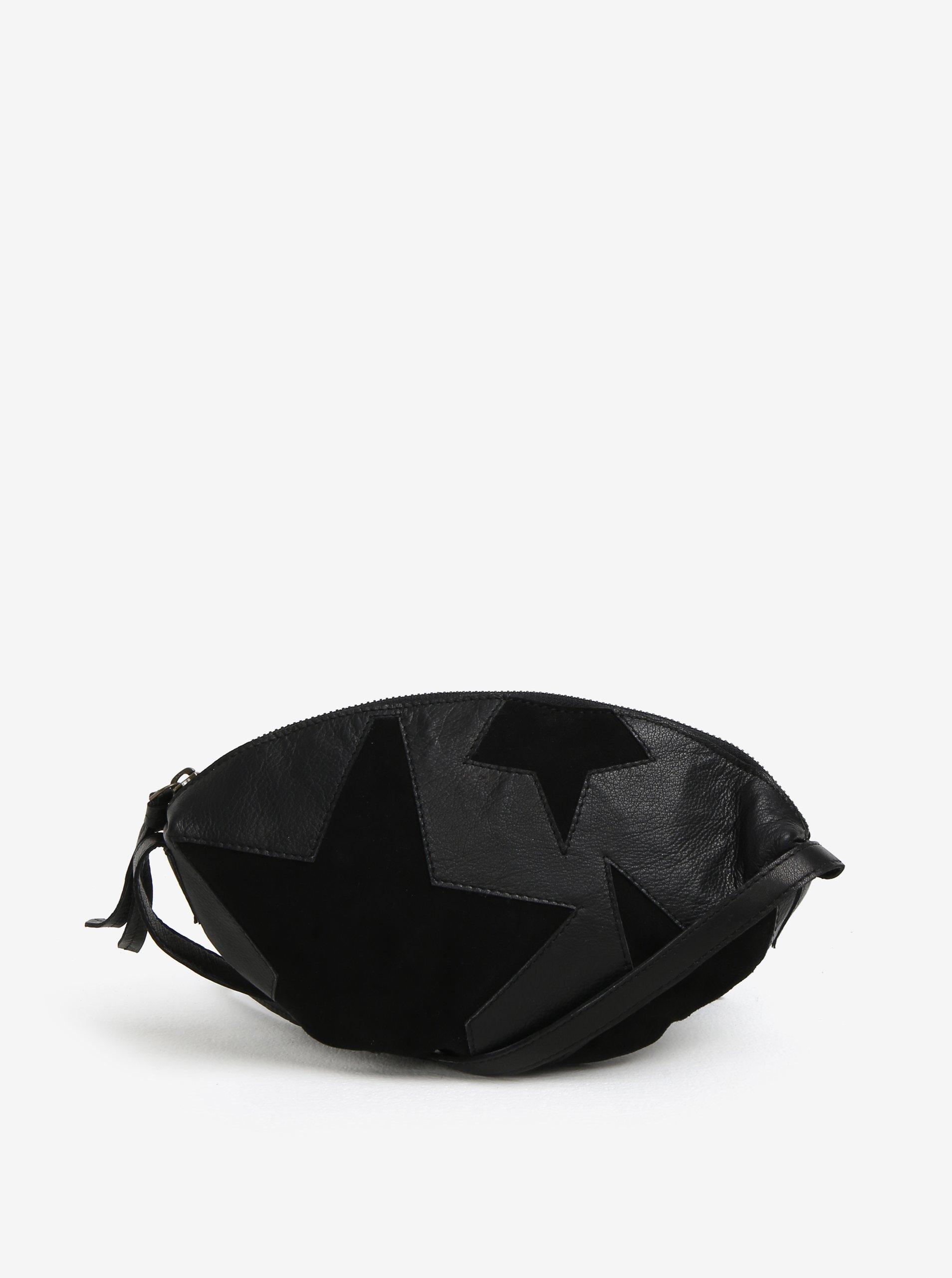 Černá kožená crossbody kabelka Yerse