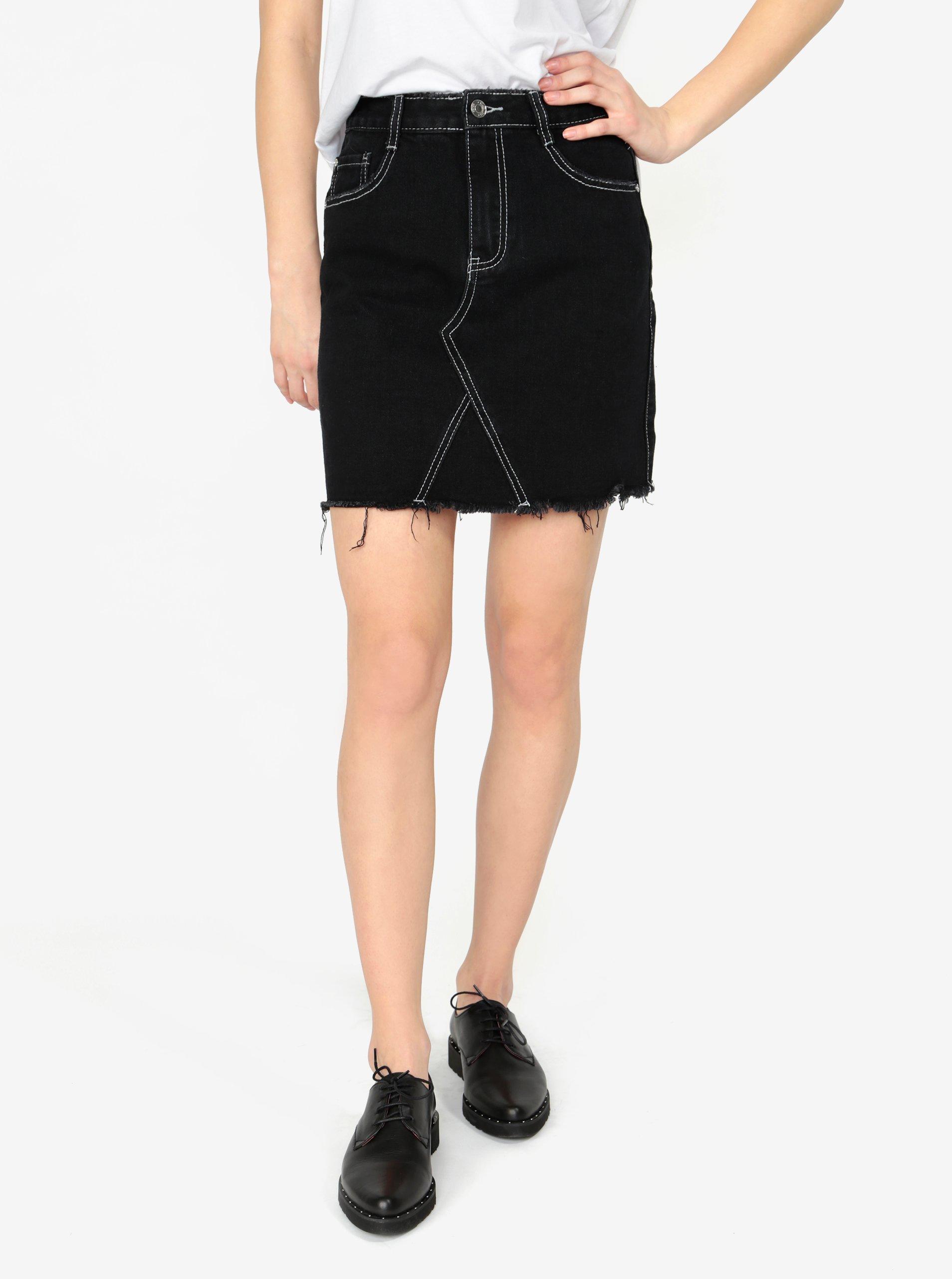 Černá džínová sukně MISSGUIDED Barbie a5228c2f56