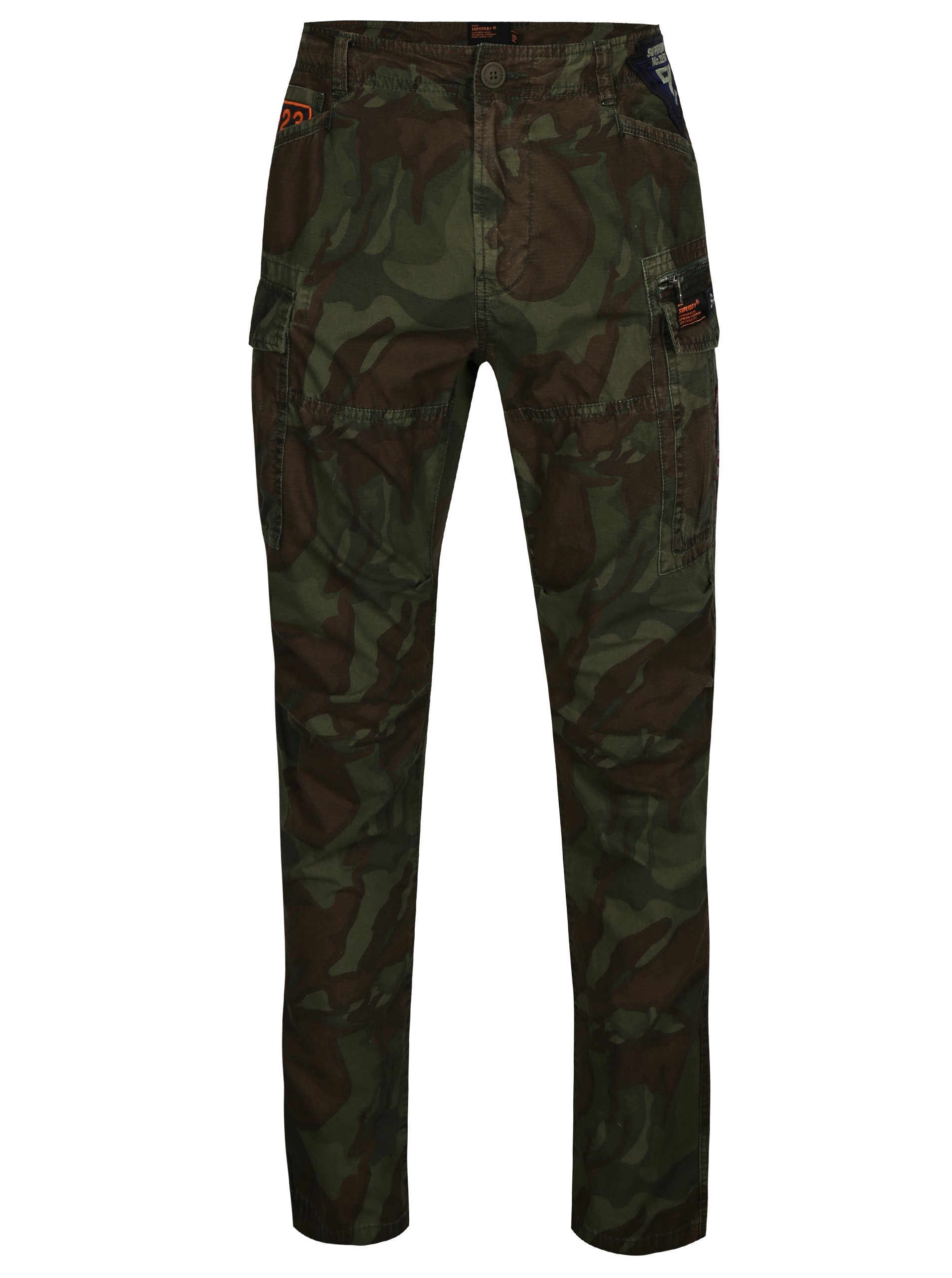 Zelené pánské maskáčové kalhoty Superdry 223ab4762a0