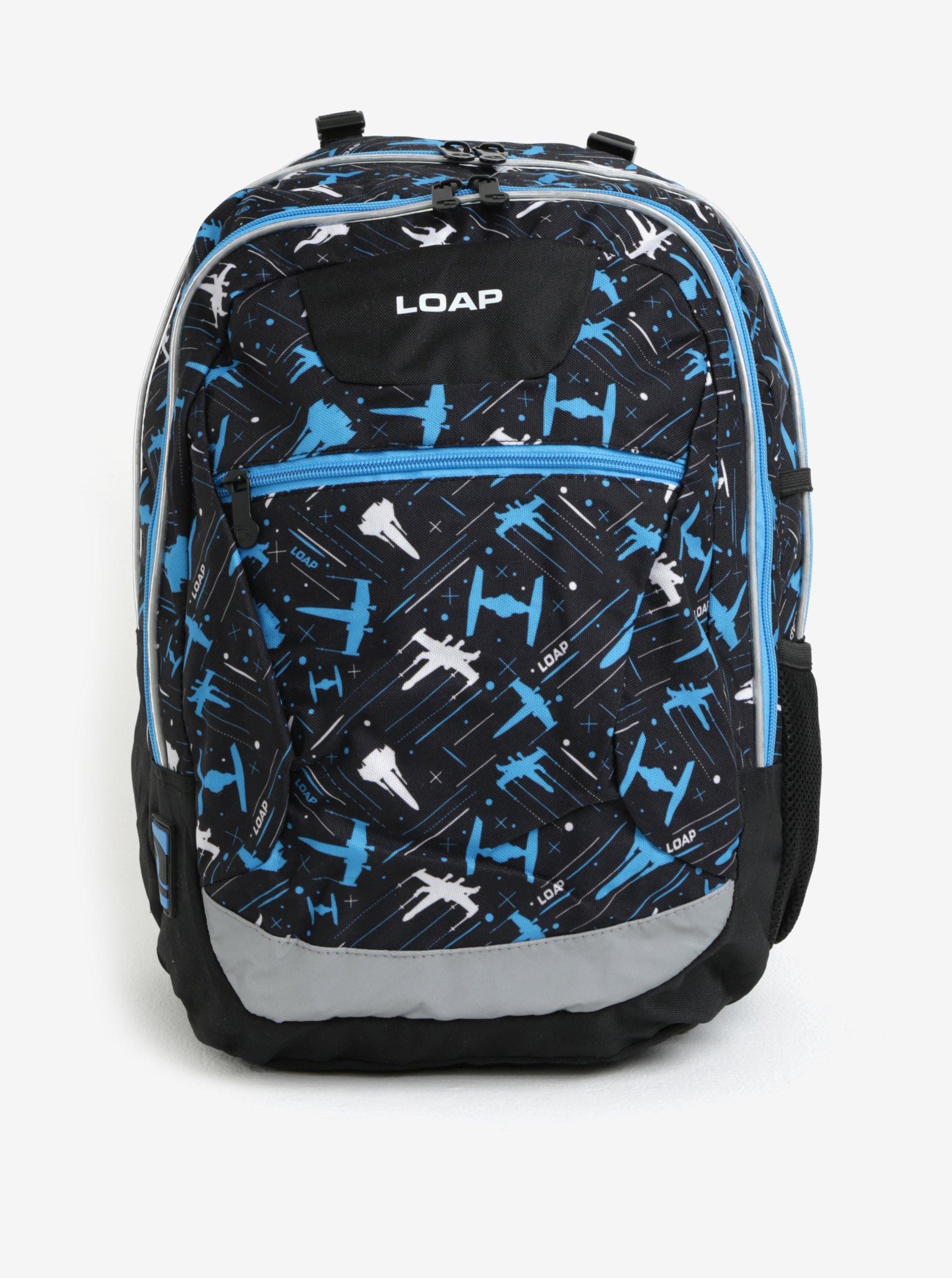 36cd9c8cdb Čierno-modrý chlapčenský vzorovaný batoh LOAP Ellipse 25 l