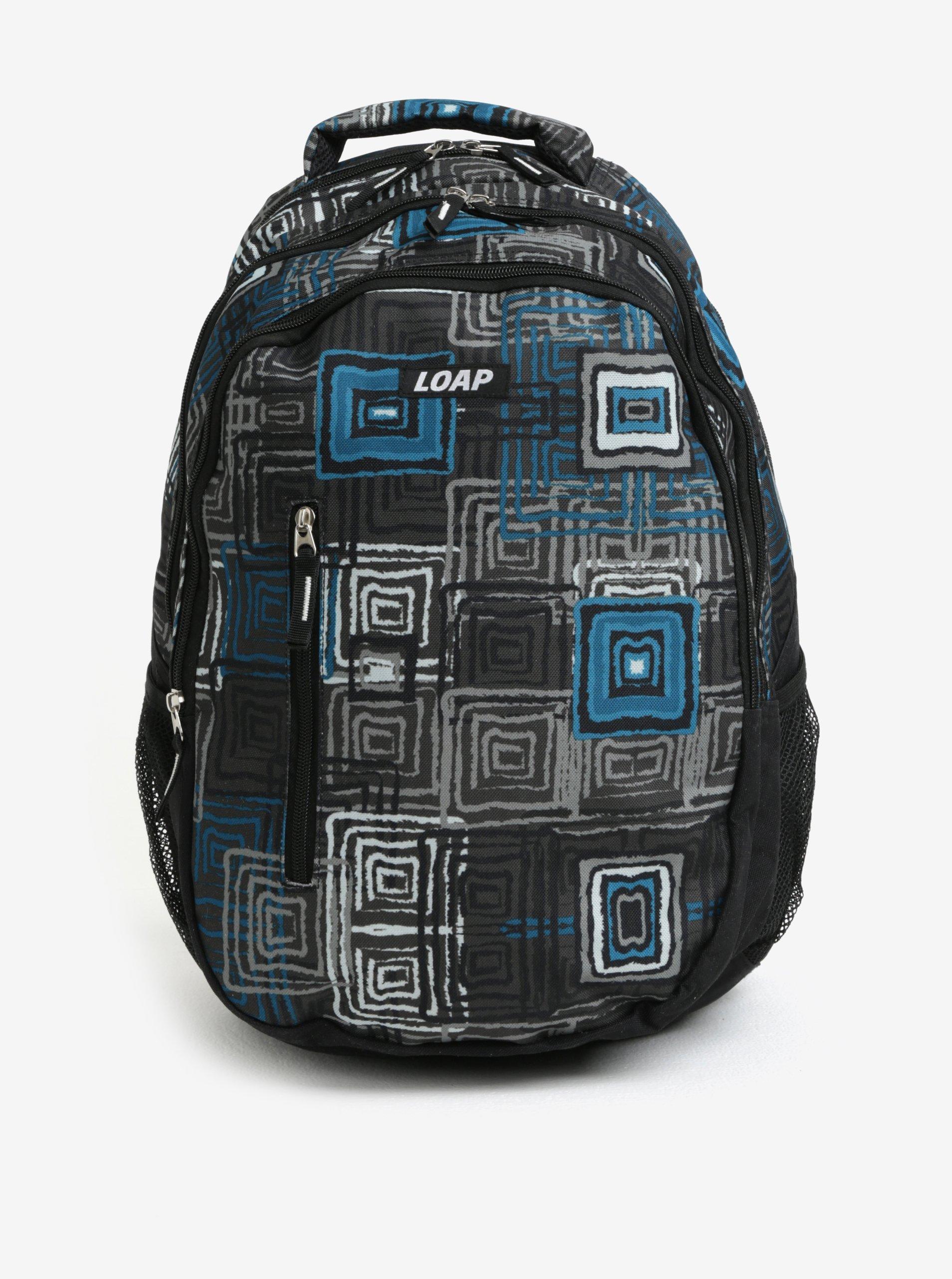 Fotografie Černo-modrý vzorovaný batoh LOAP Lian 20 l