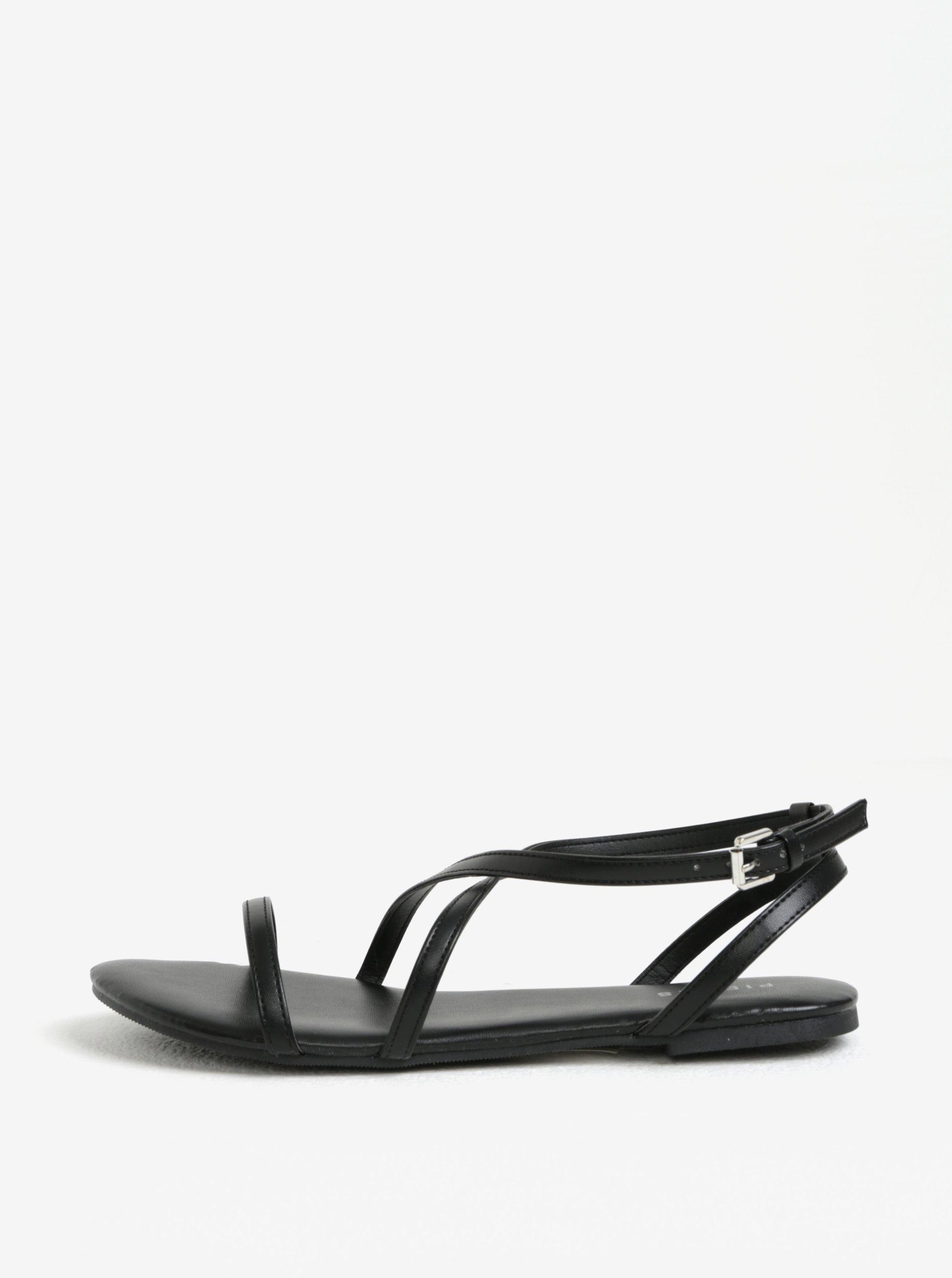6ee98faf8003 Čierne sandále Pieces Docia