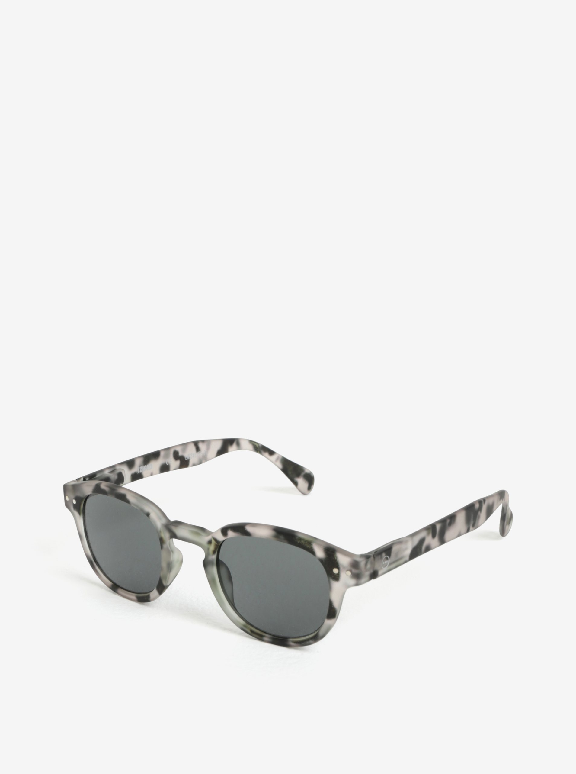 Sivé vzorované unisex slnečné okuliare IZIPIZI #C