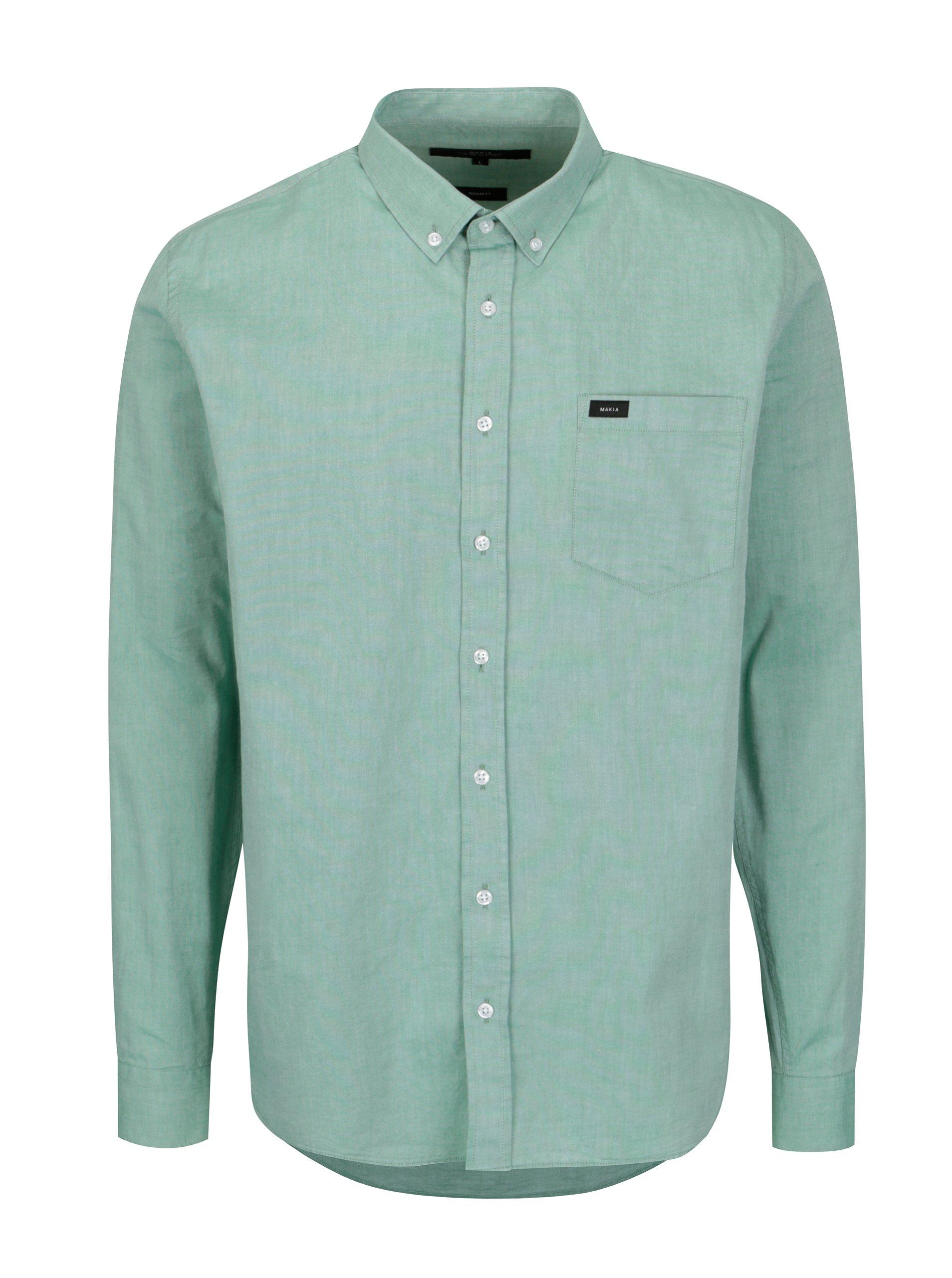 51355a2669d Zelená pánská regular fit košile Makia Flagship