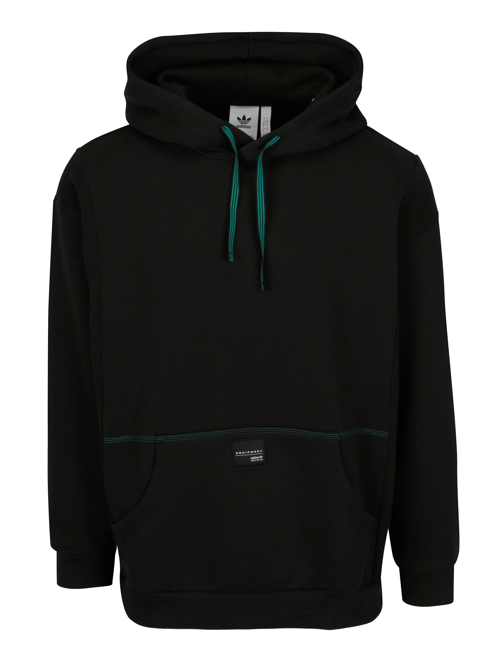 Čierna pánska mikina s kapucňou adidas Originals