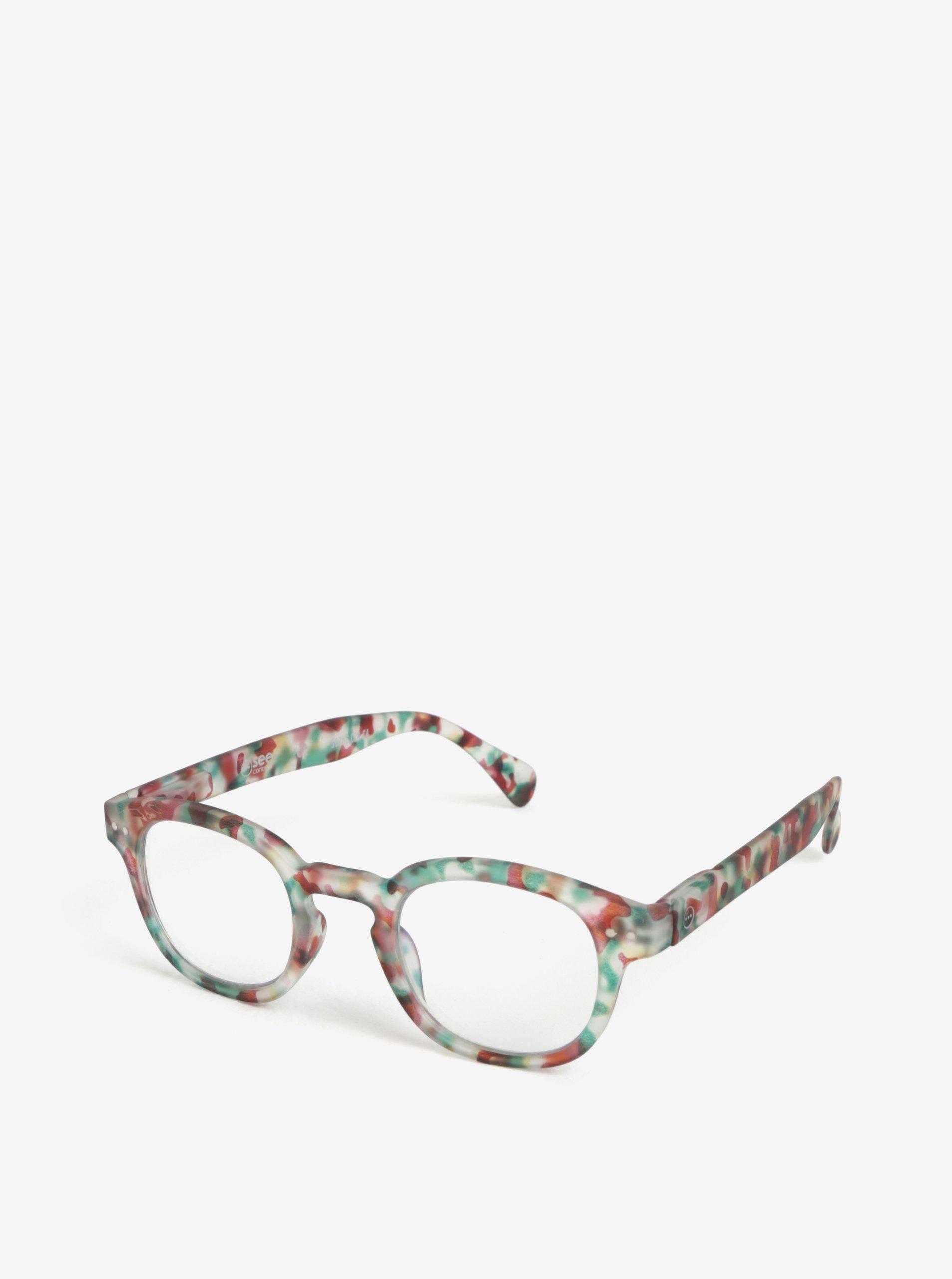 Zelené maskáčové unisex ochranné okuliare k PC IZIPIZI #C