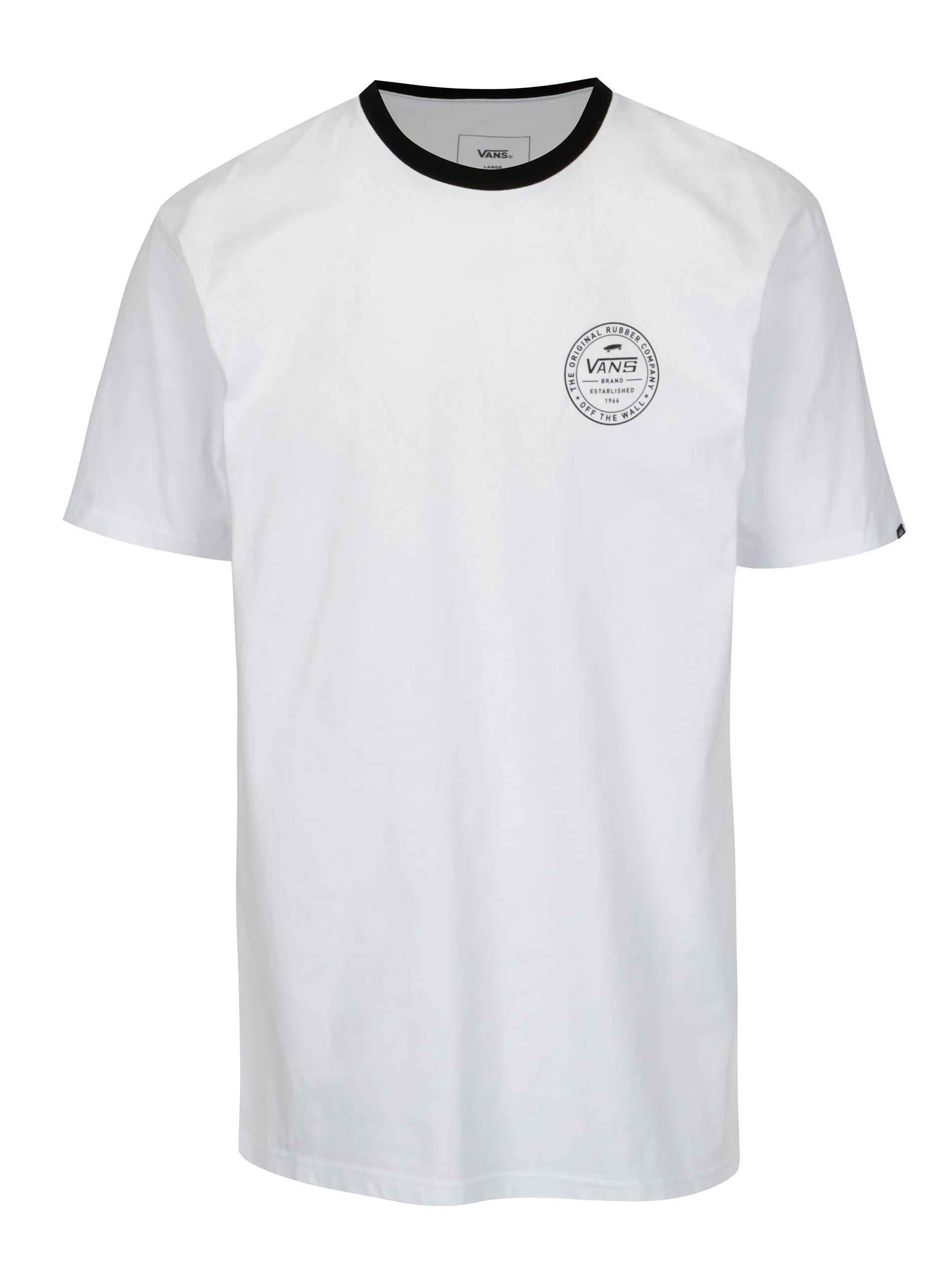 Čierno-biele pánske tričko VANS Established a47b4ebcb4f