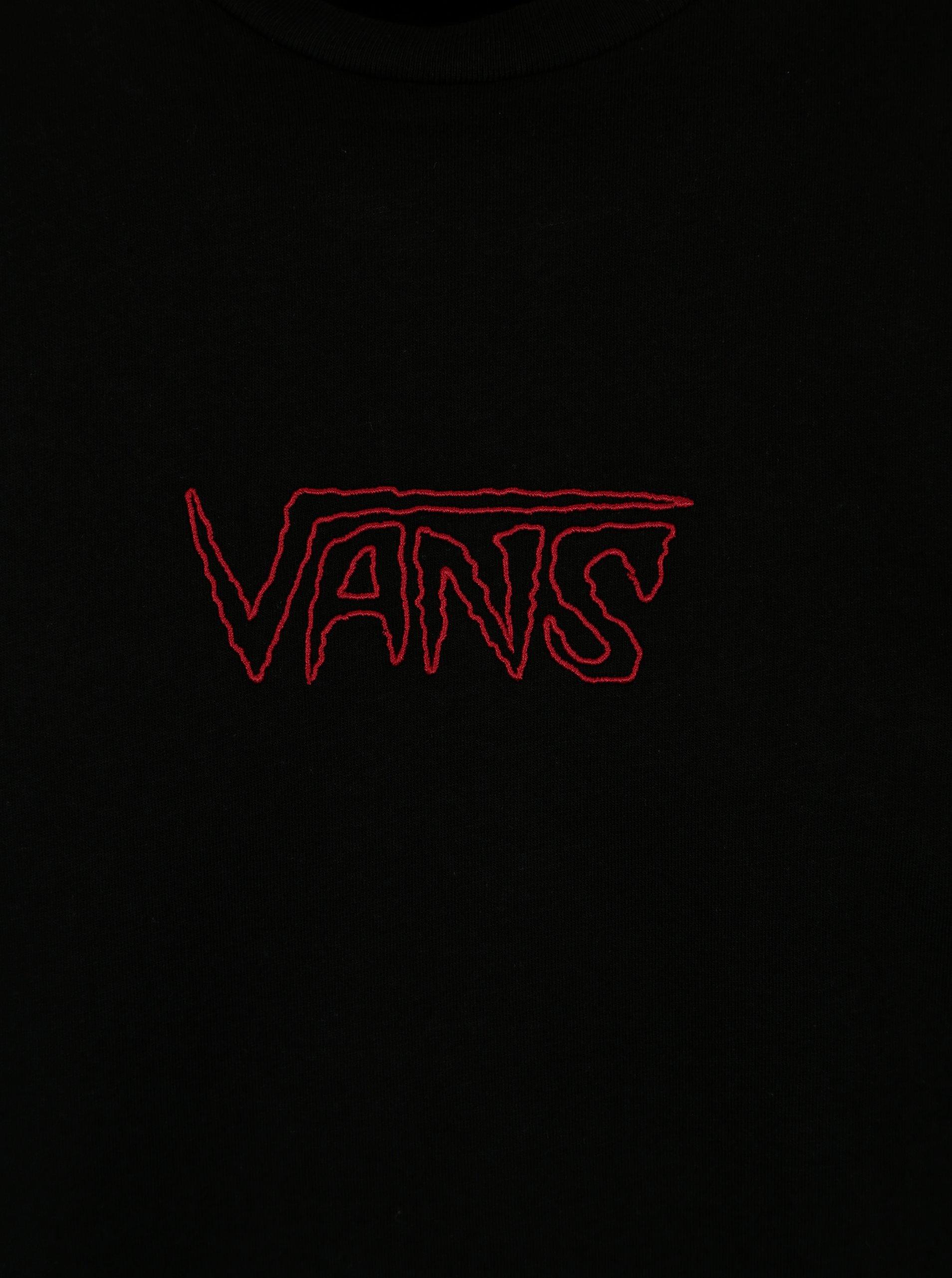 Černé pánské tričko s výšivkou VANS Sketch Tape