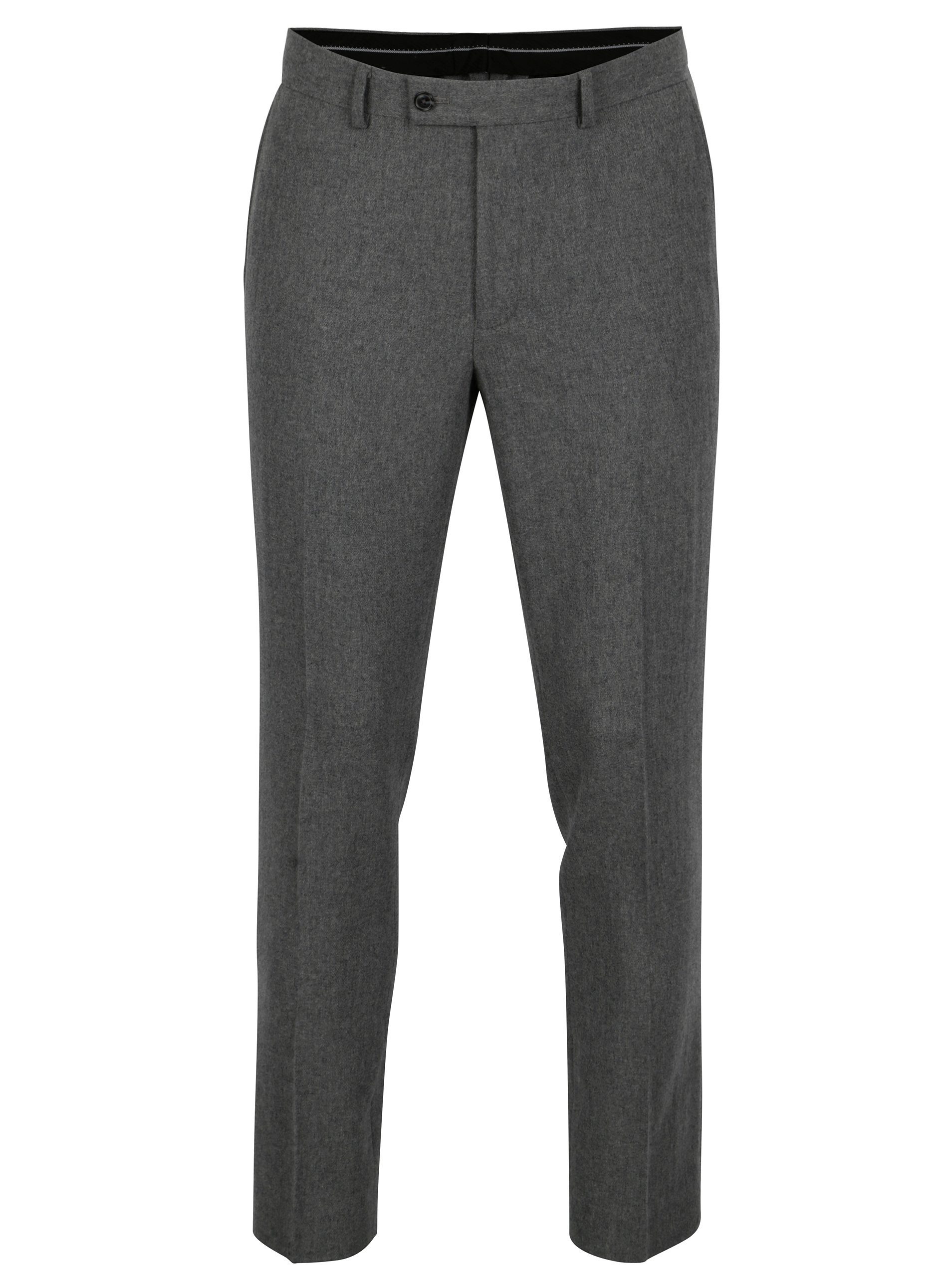 Tmavě šedé skinny fit vlněné kalhoty Burton Menswear London