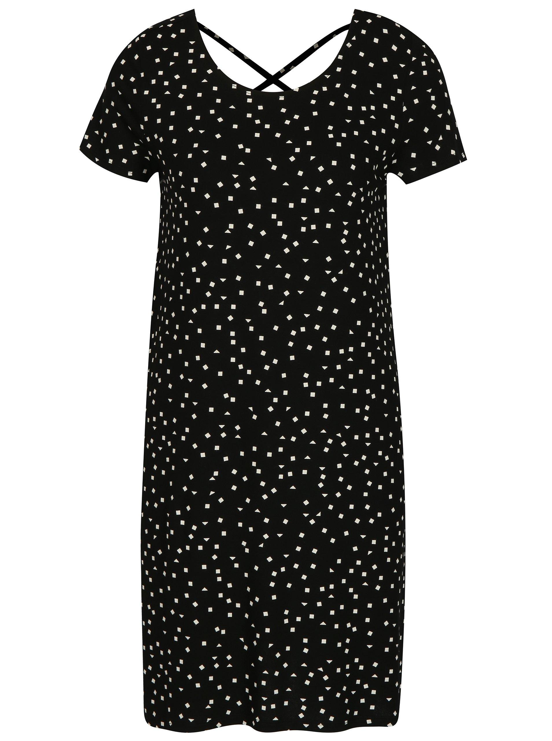 Čierne šaty s potlačou ONLY Bera e00b0f73c34