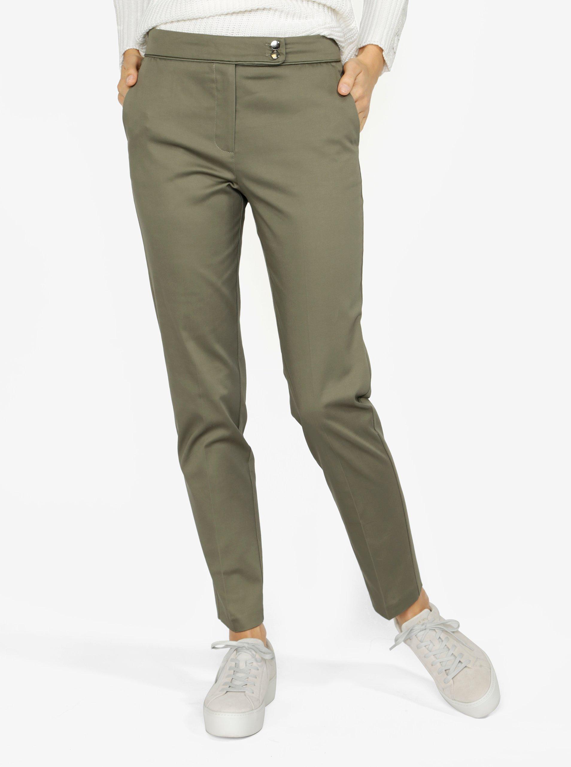 Zelené dámske skrátené nohavice M&Co