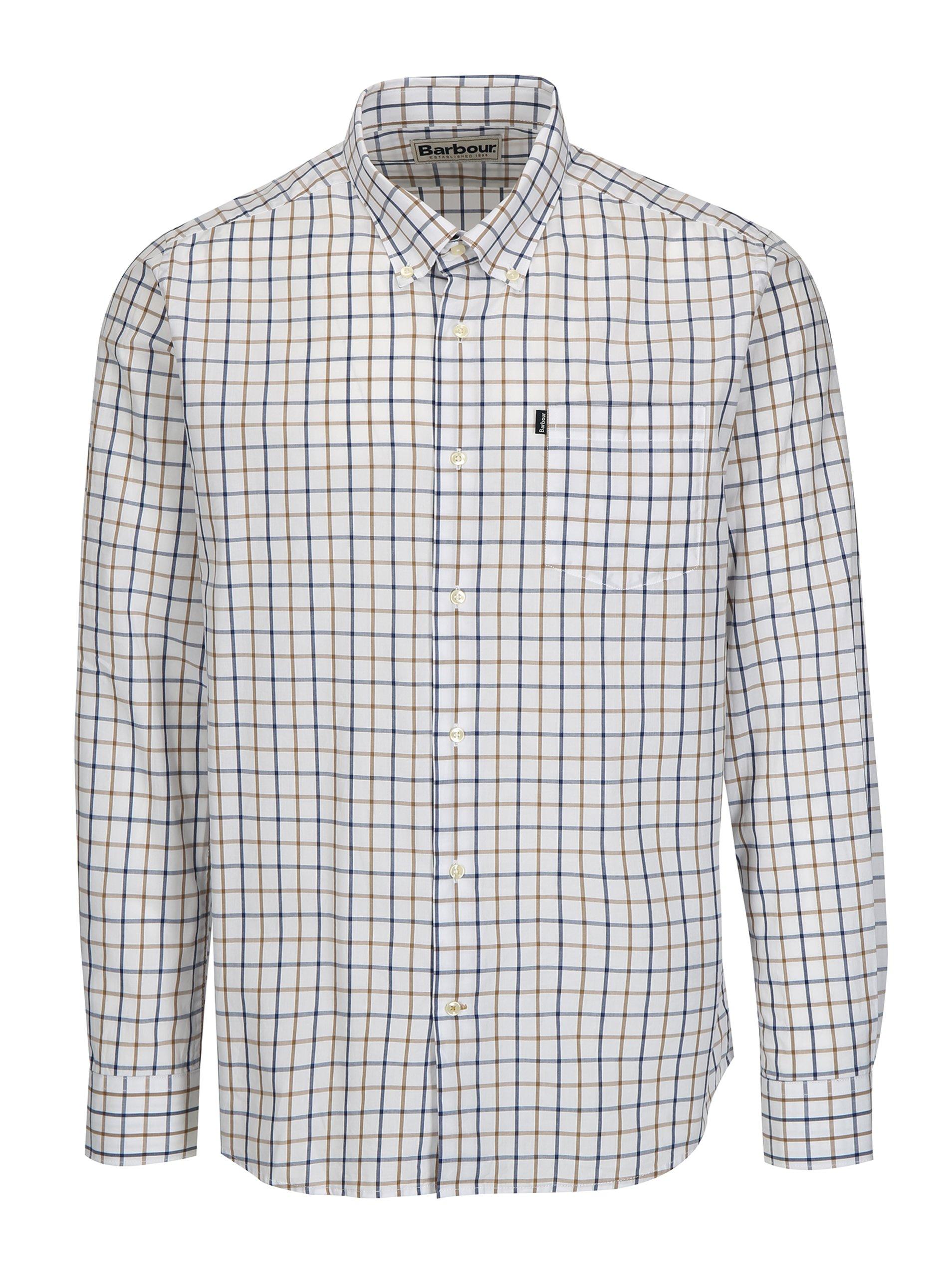 Modro-bílá kostkovaná tailored fit košile Barbour Henry 8f1c4153ea