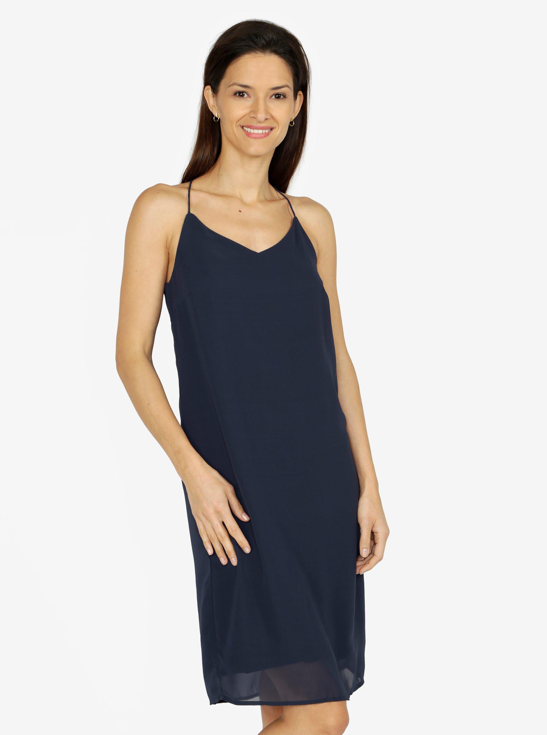 62e694ed2b25 Tmavomodré šaty na ramienka VERO MODA Diana