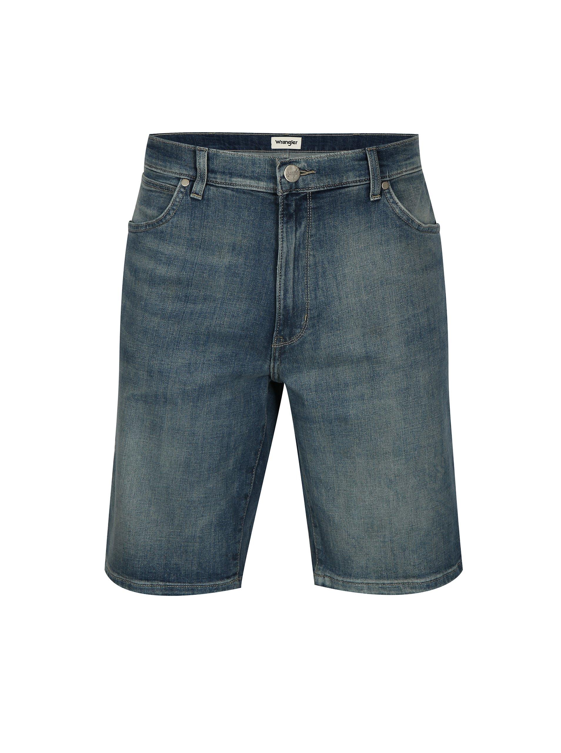 d5fbcc43978 Modré pánské džínové kraťasy Wrangler
