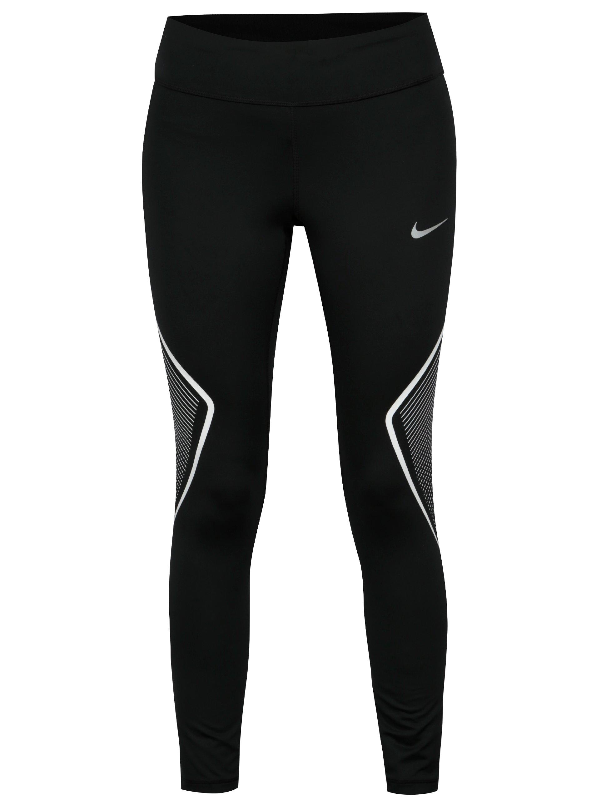 Čierne dámske skrátené funkčné legíny Nike Tght Fast Gx aca7c0a6fd1