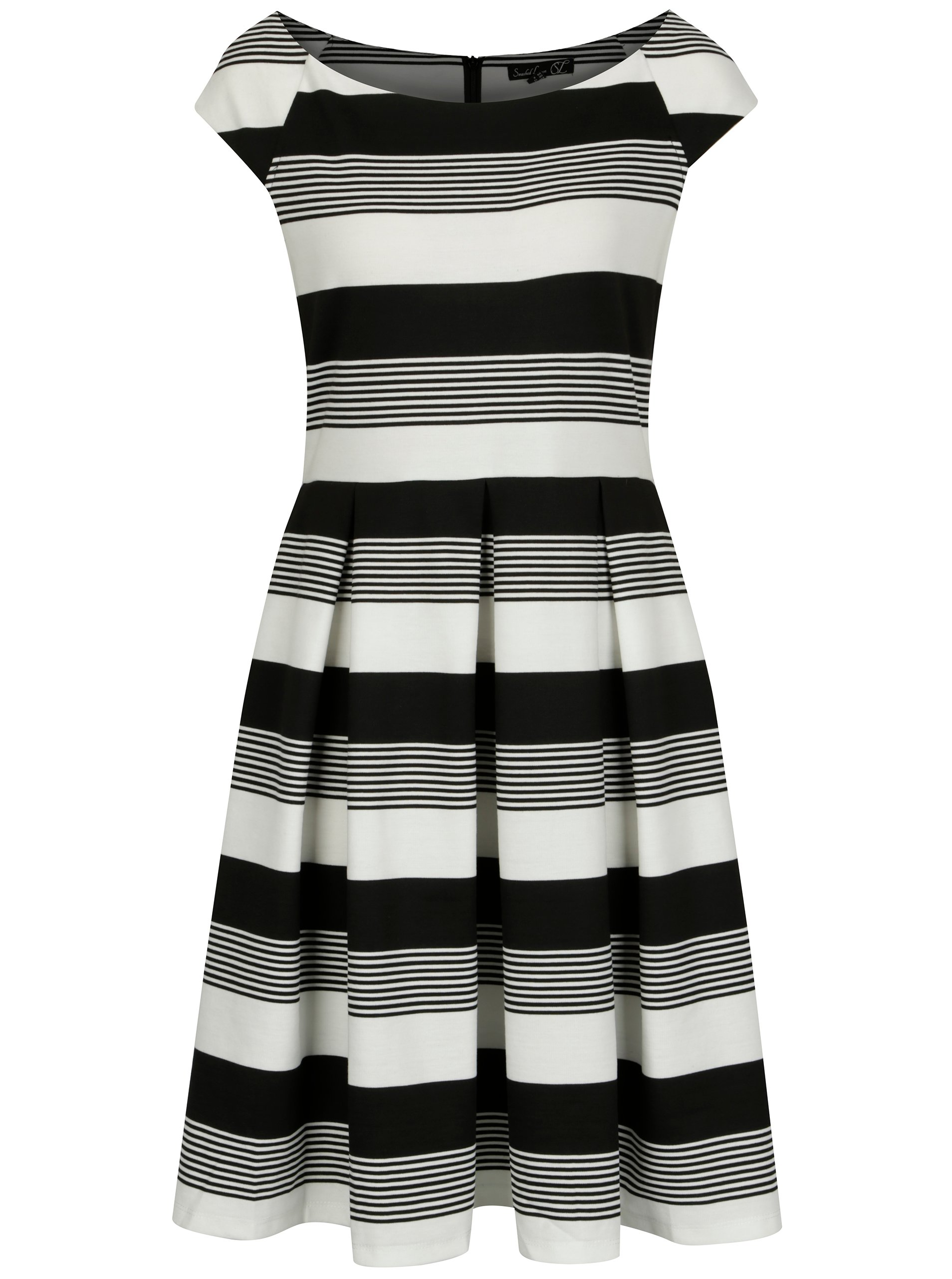 Černo-bílé pruhované šaty Smashed Lemon
