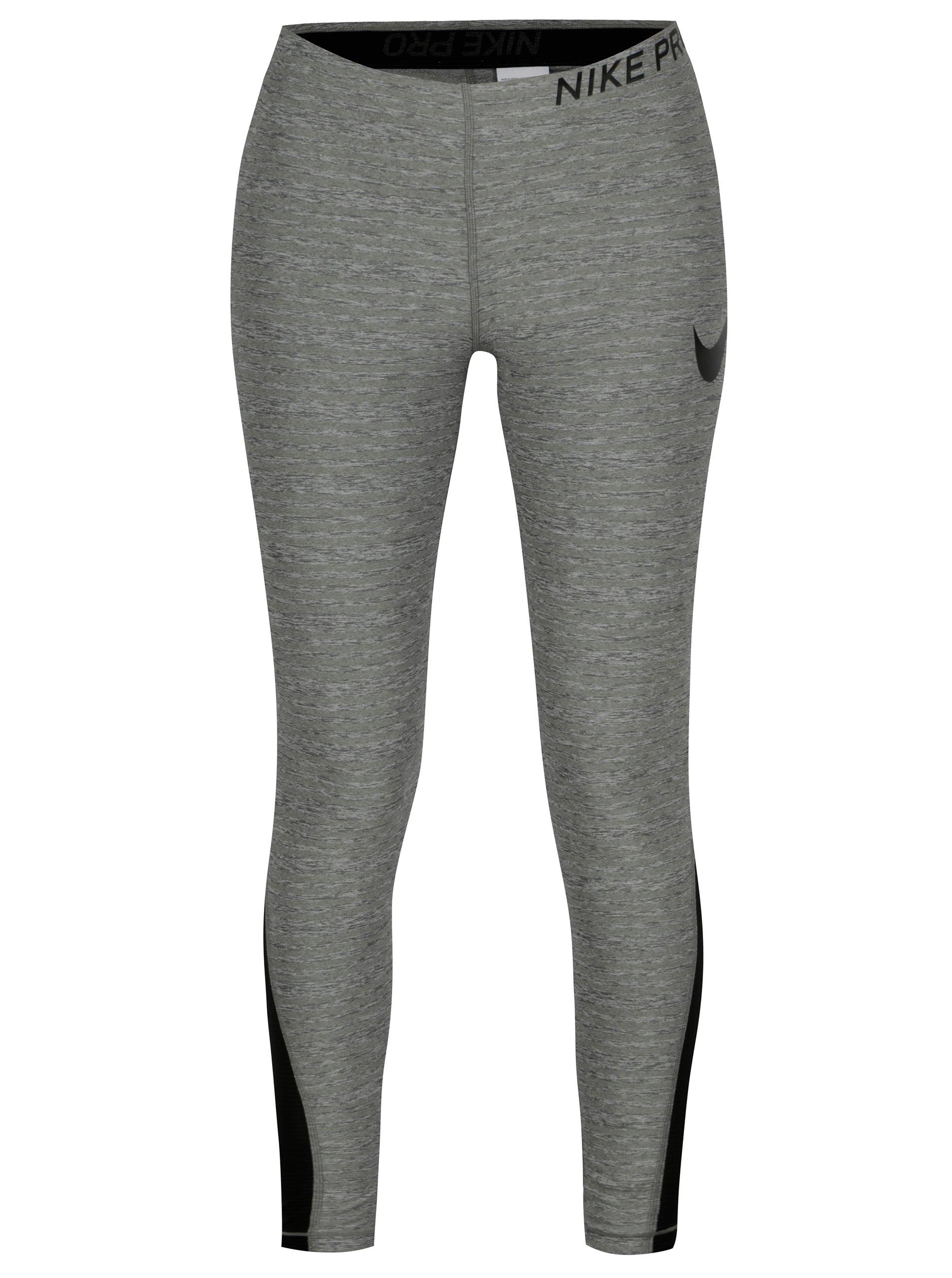 a714332e1eec Sivé melírované dámske funkčné legíny Nike Training Tights