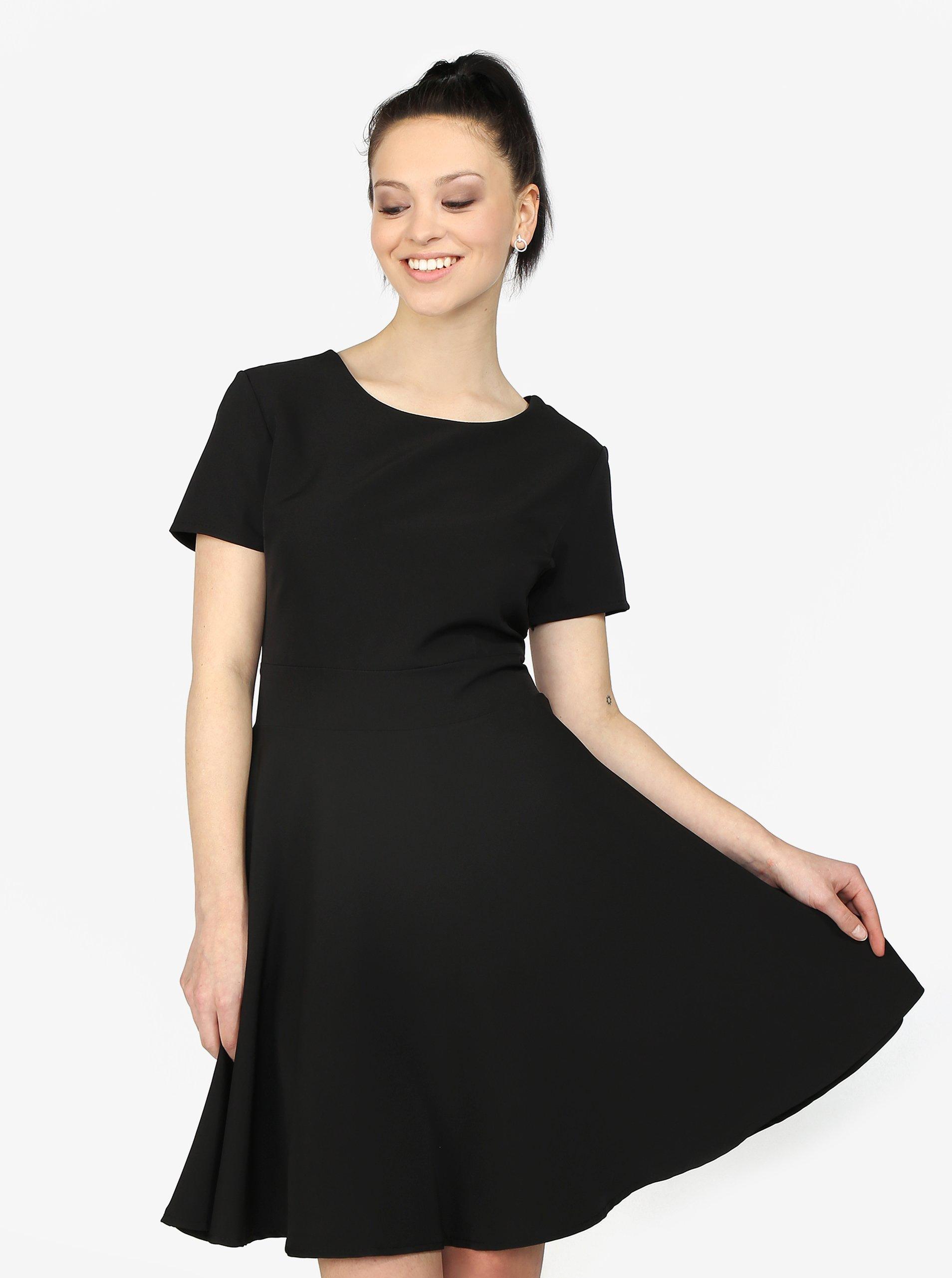 d3ea225f6e58 Čierne áčkové šaty Haily s Hanna