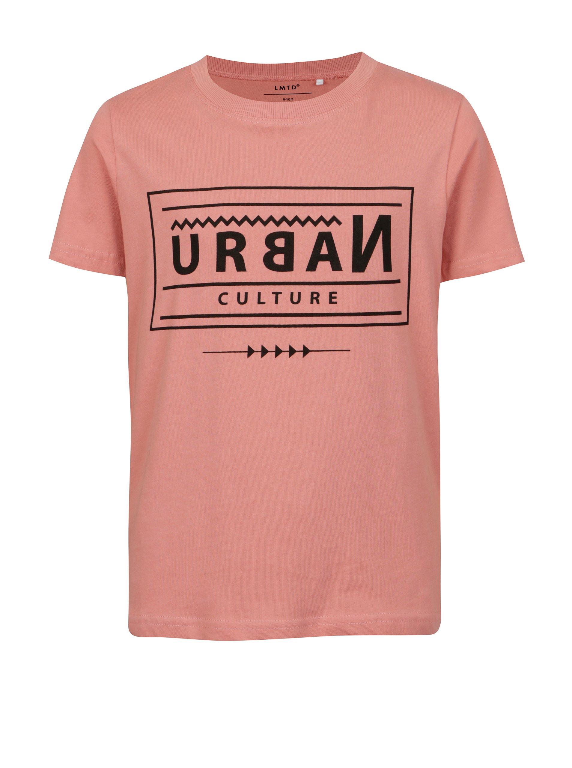 5f5e42d3b9e1 Ružové chlapčenské tričko s potlačou LIMITED by name it Victorro