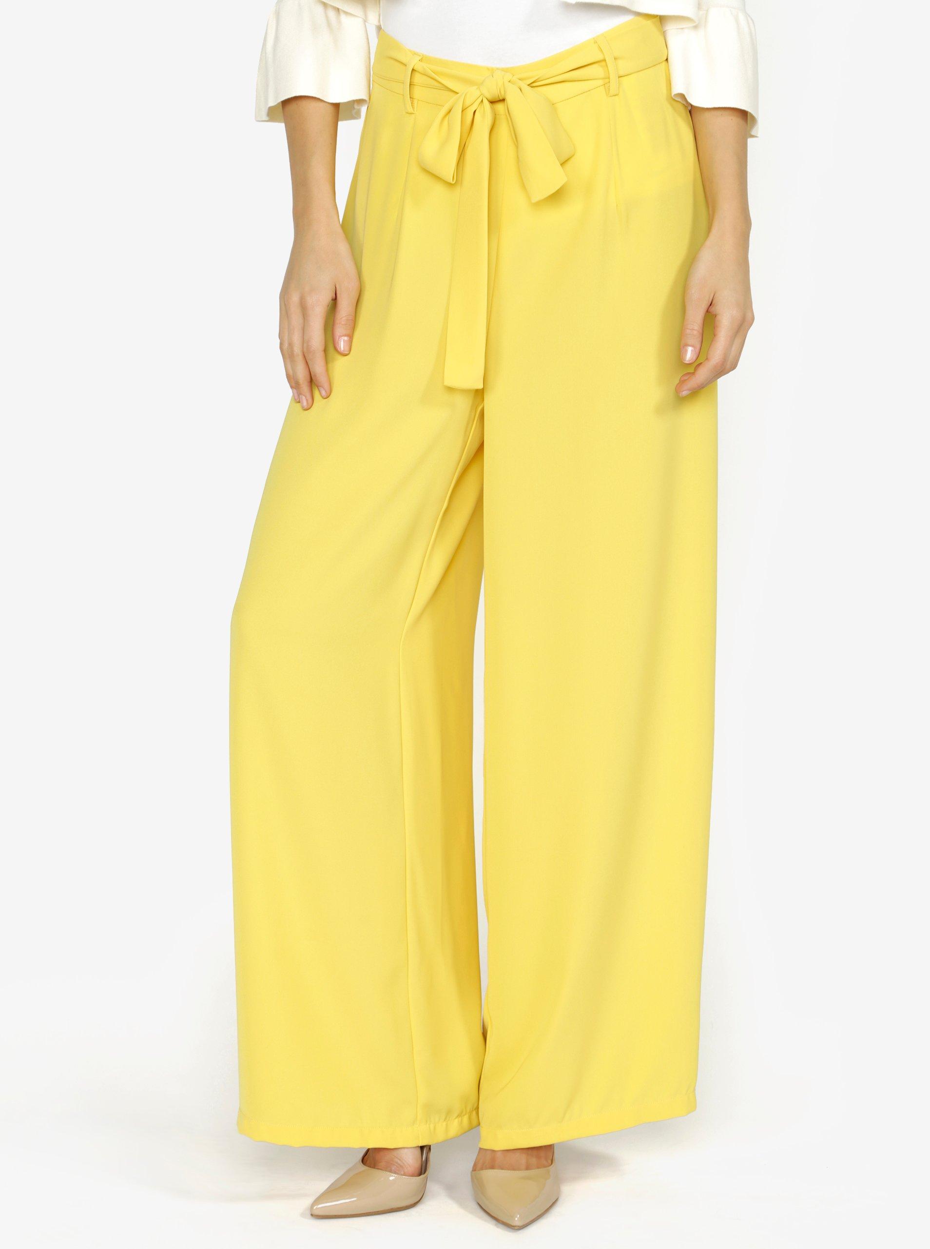 žluté culottes kalhoty s vysokým pasem VERO MODA Mita