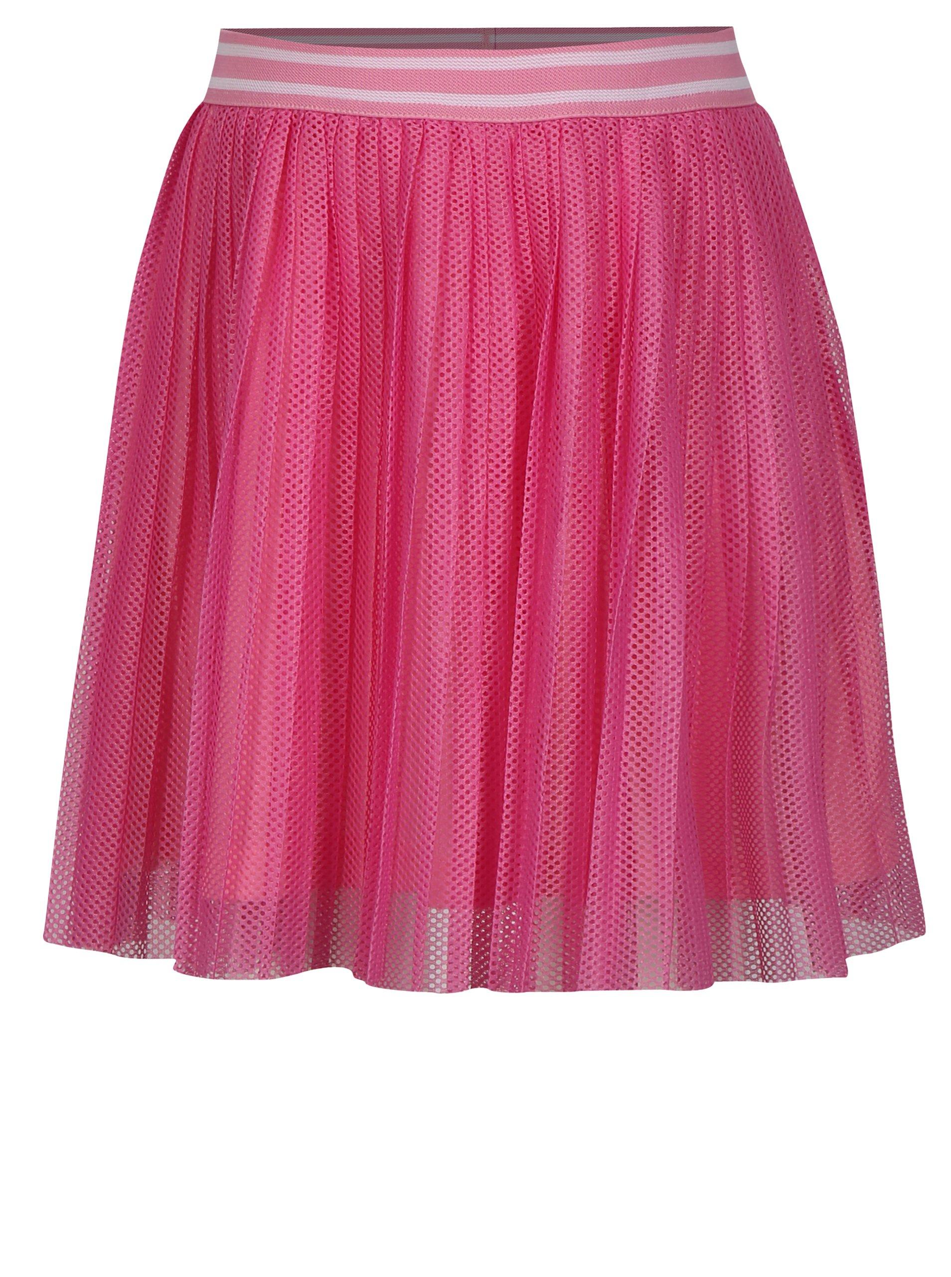 08ffb340e8c8 Ružová dievčenská plisovaná sukňa name it Iwtex