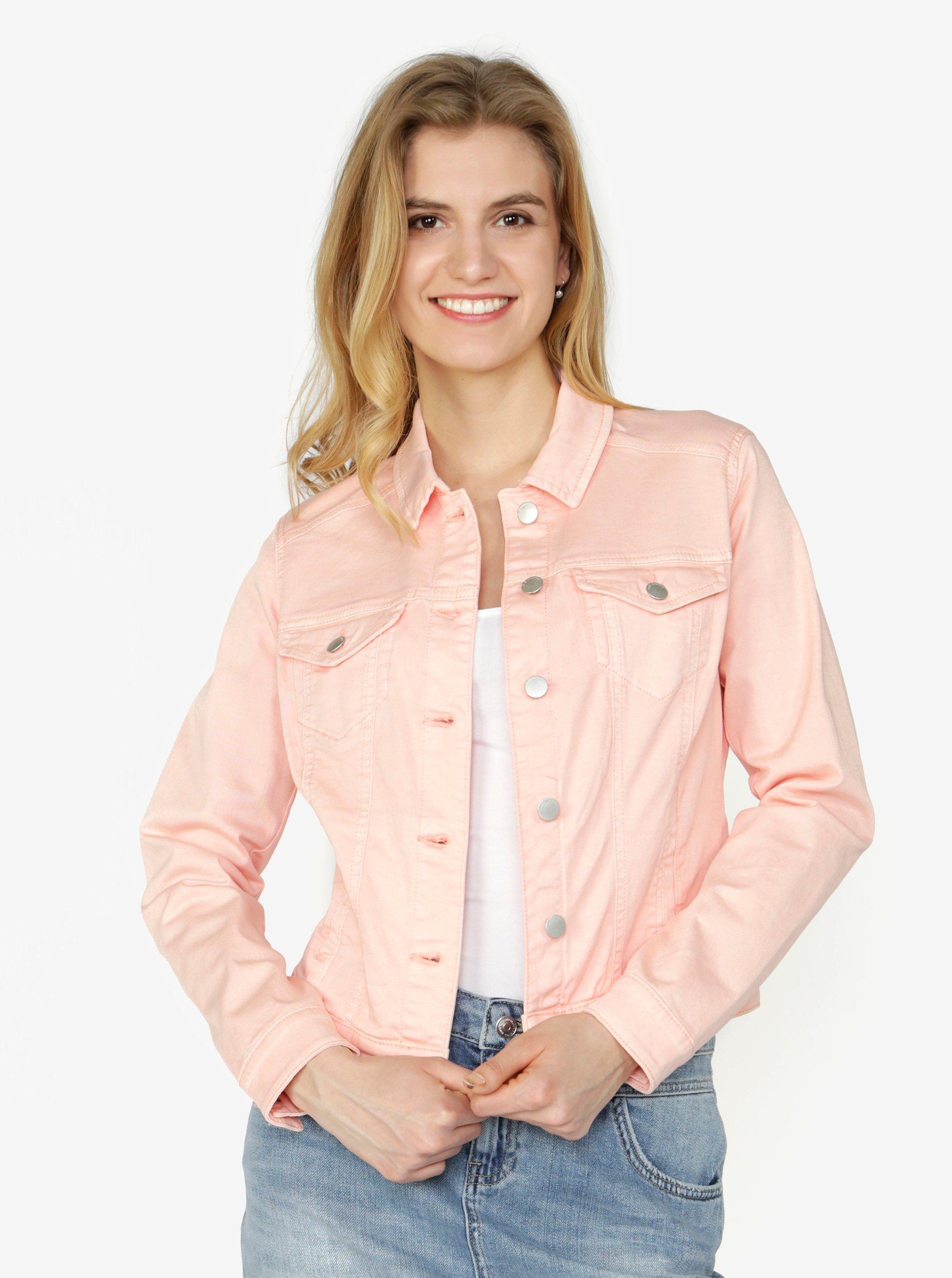 c4cae005a131 Ružová dámska rifľová bunda QS by s.Oliver