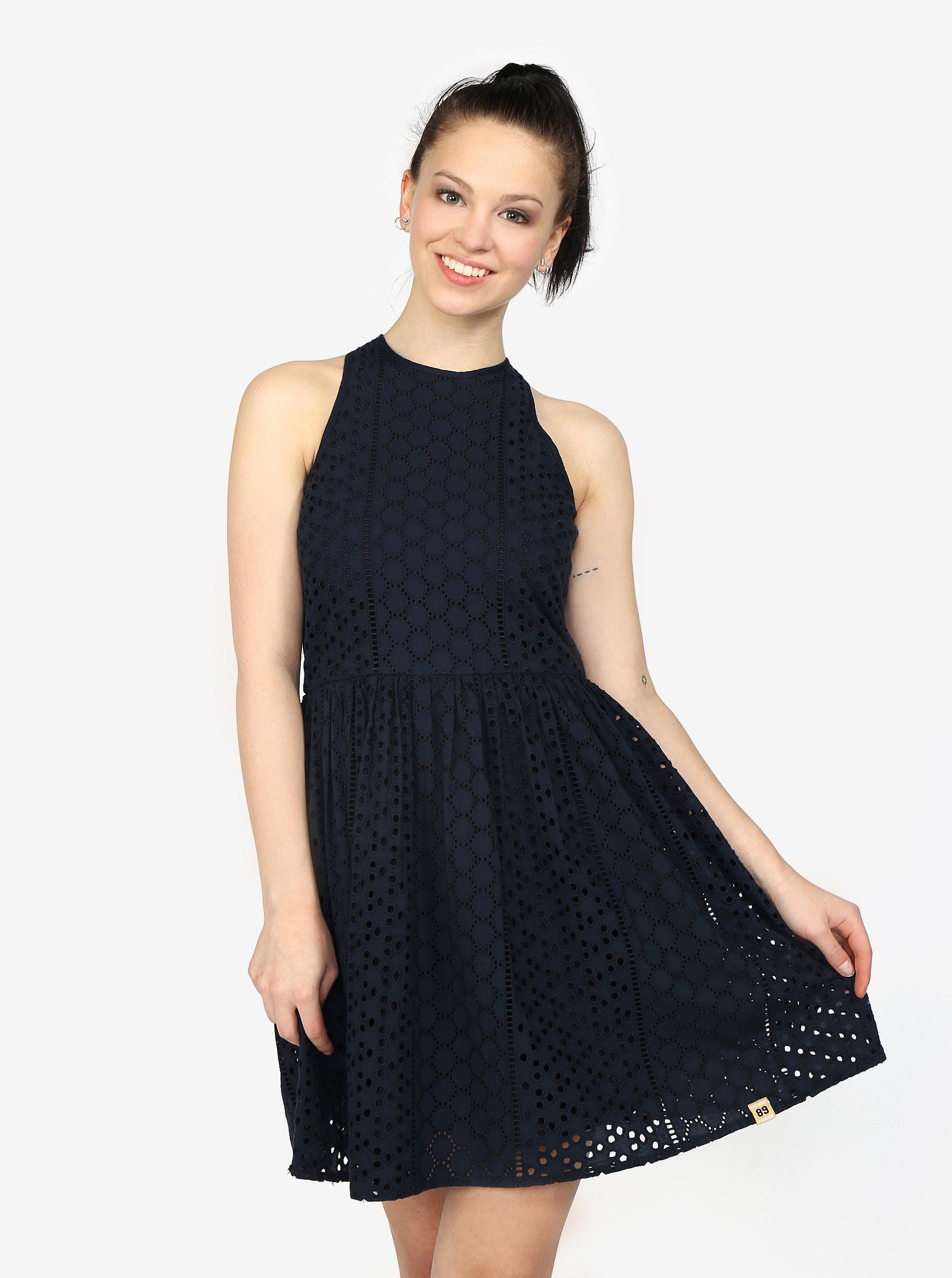 d3c79b39c606 Tmavě modré vzorované šaty Superdry