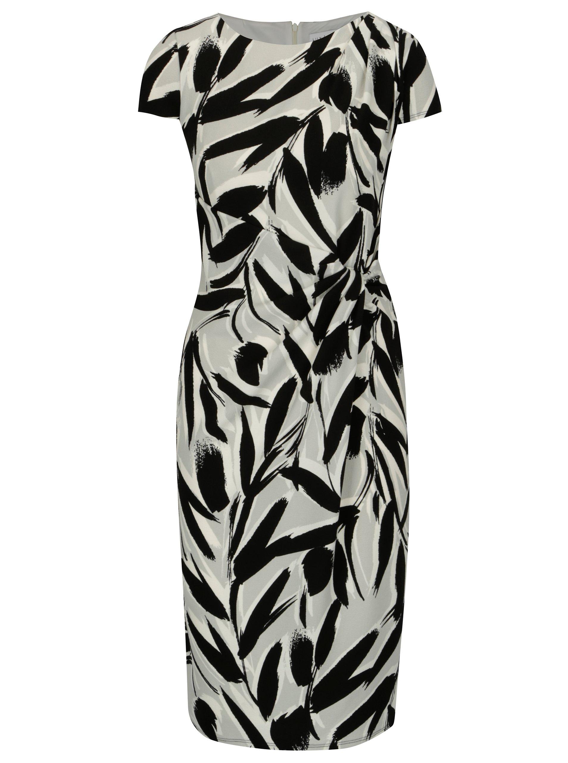 56ec6c6c9dc9 Čierno–biele vzorované šaty s riasením Dorothy Perkins