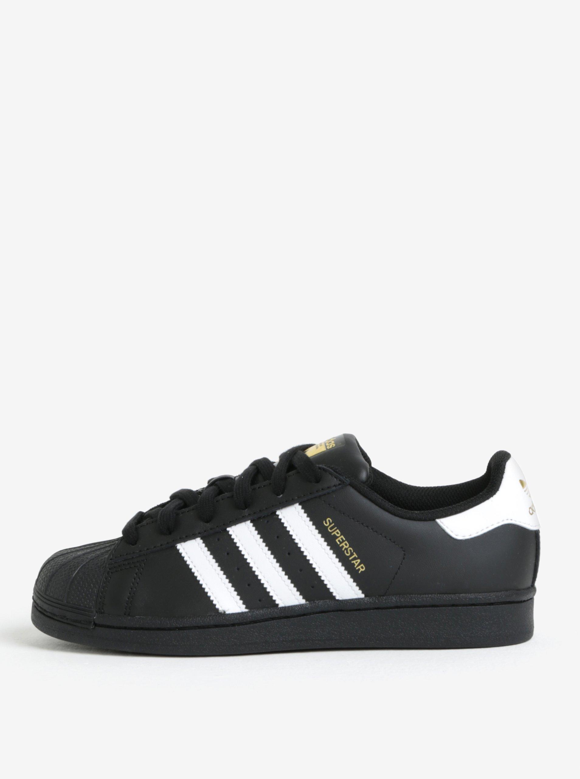 3cfb63c46b0a Čierne kožené tenisky adidas Originals Superstar