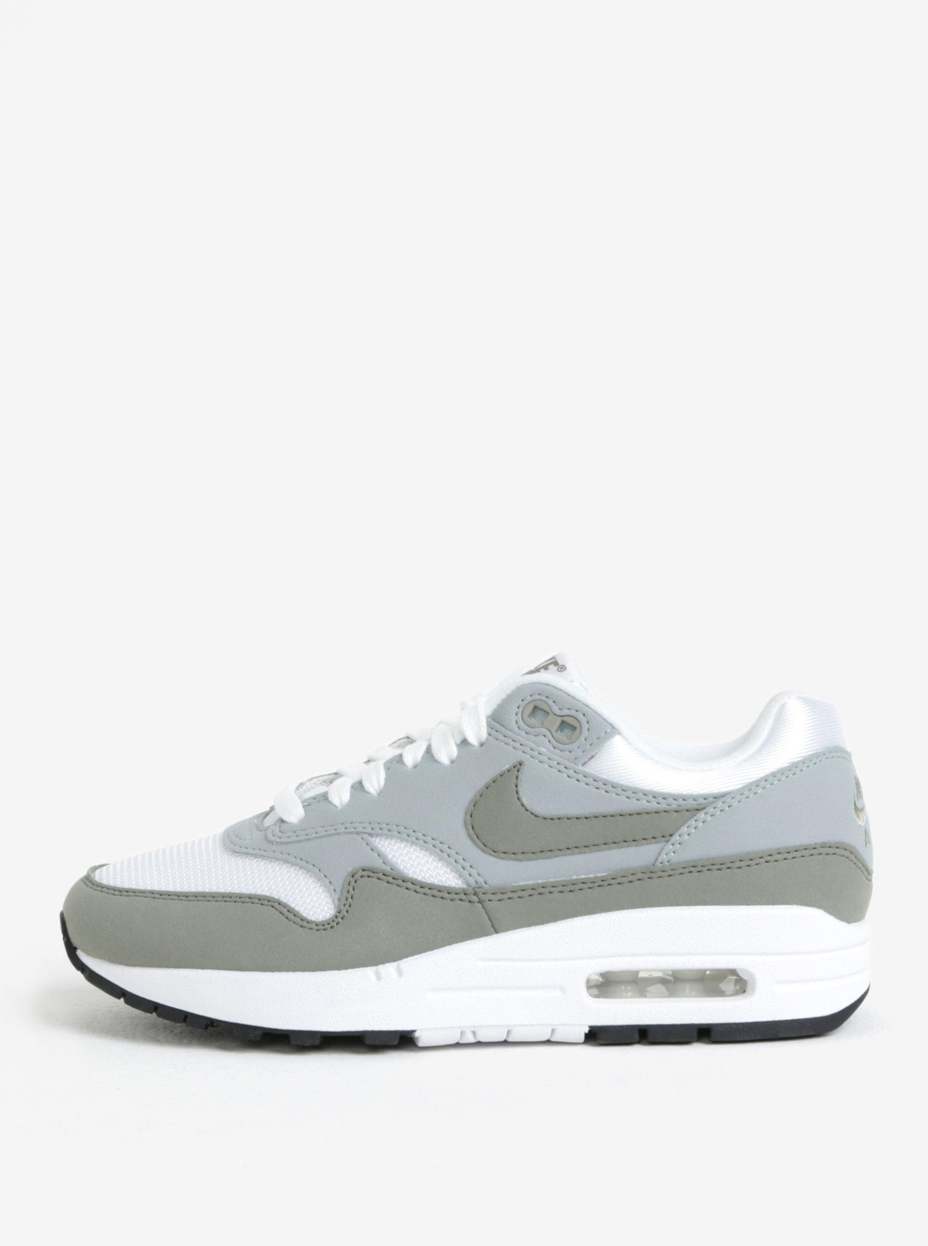 Bílo-šedé dámské tenisky Nike Air Max 1