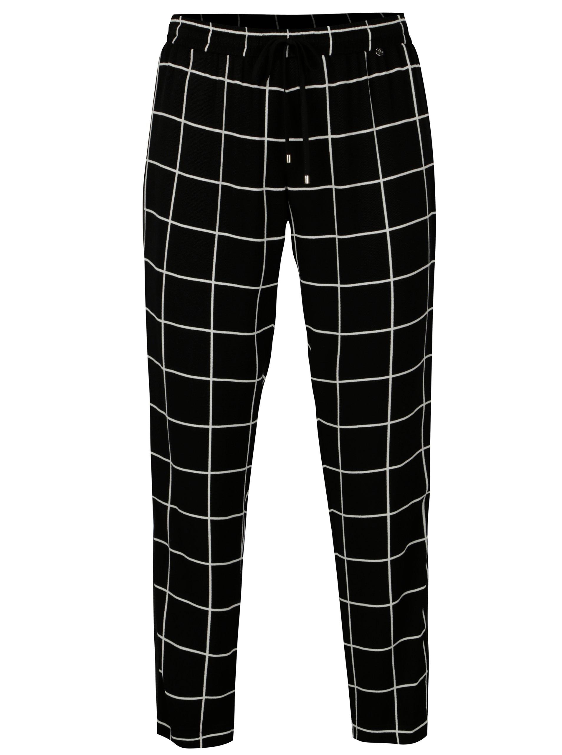 93ec9992aa36 Čierne kockované nohavice NISSA