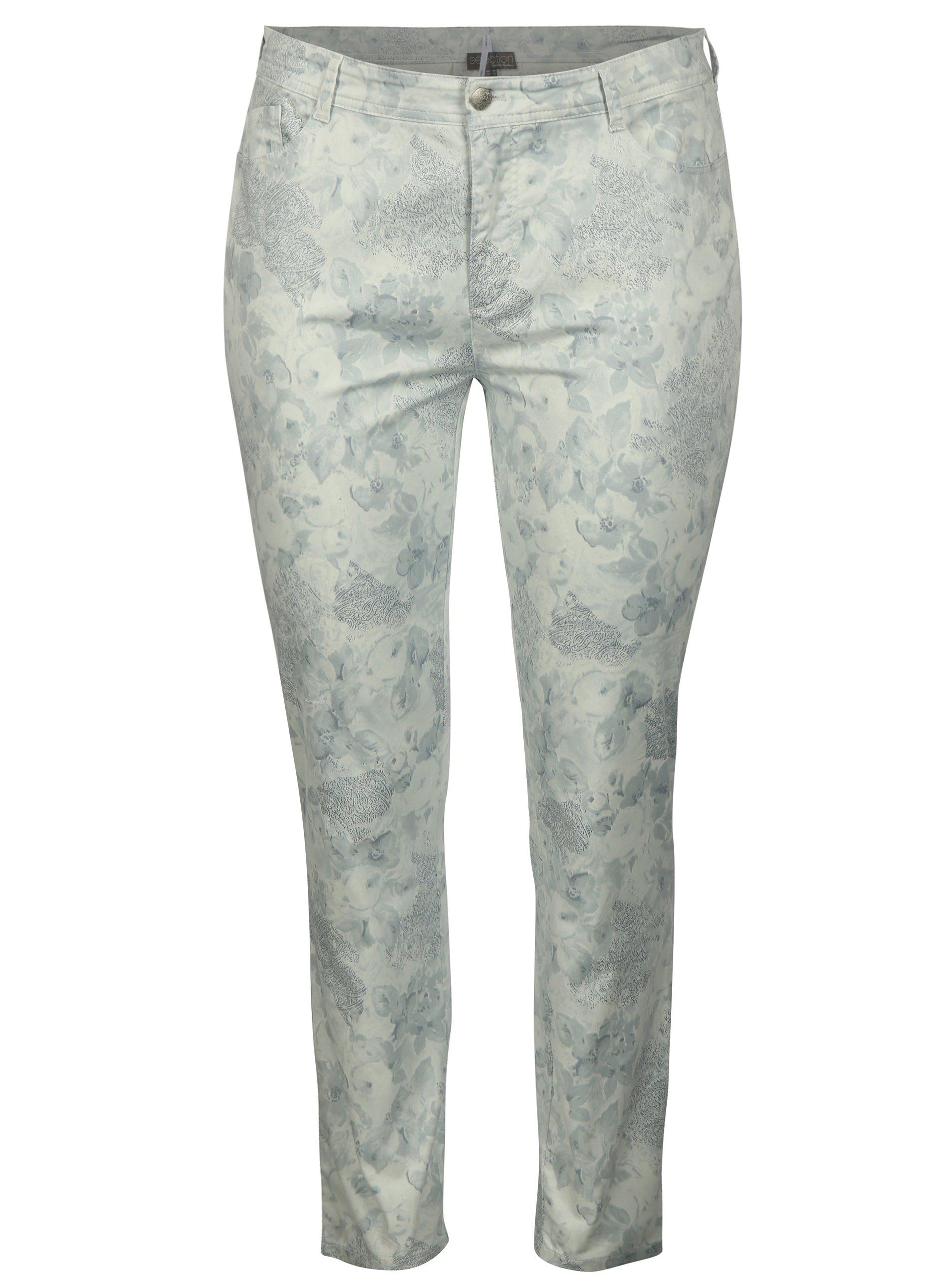 38f49c18c6be Svetlosivé vzorované nohavice Ulla Popken