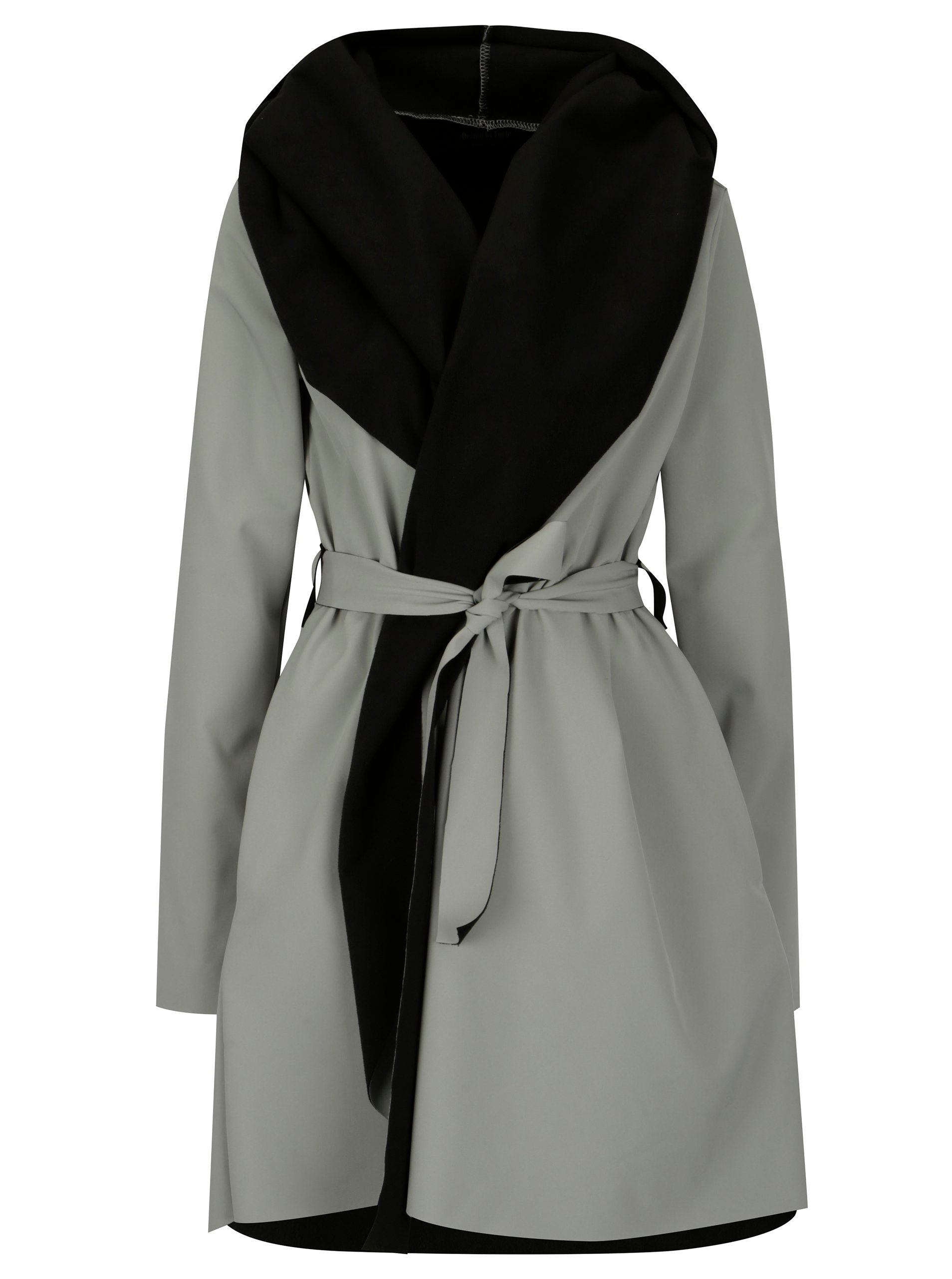 Černo-šedý voděodolný kabát Design by Lucie Jack Grey