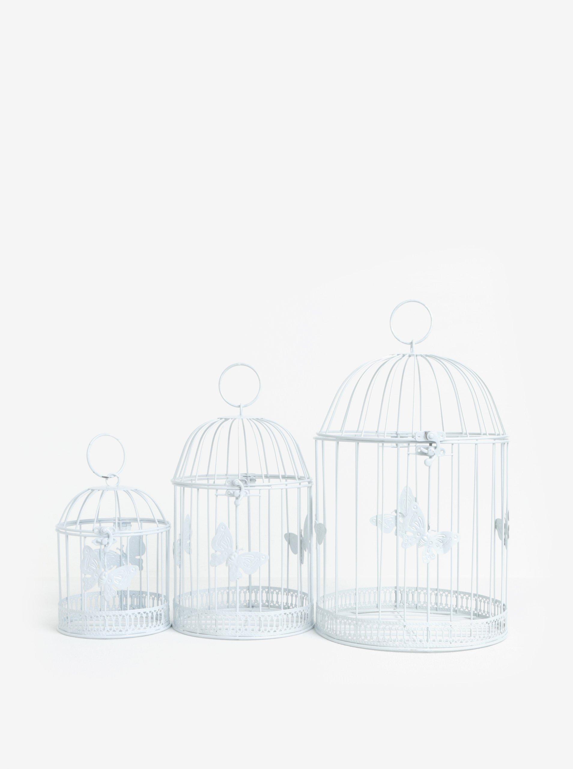 Súprava troch dekoratívnych klietok s ozdobnými motýľmi Dakls