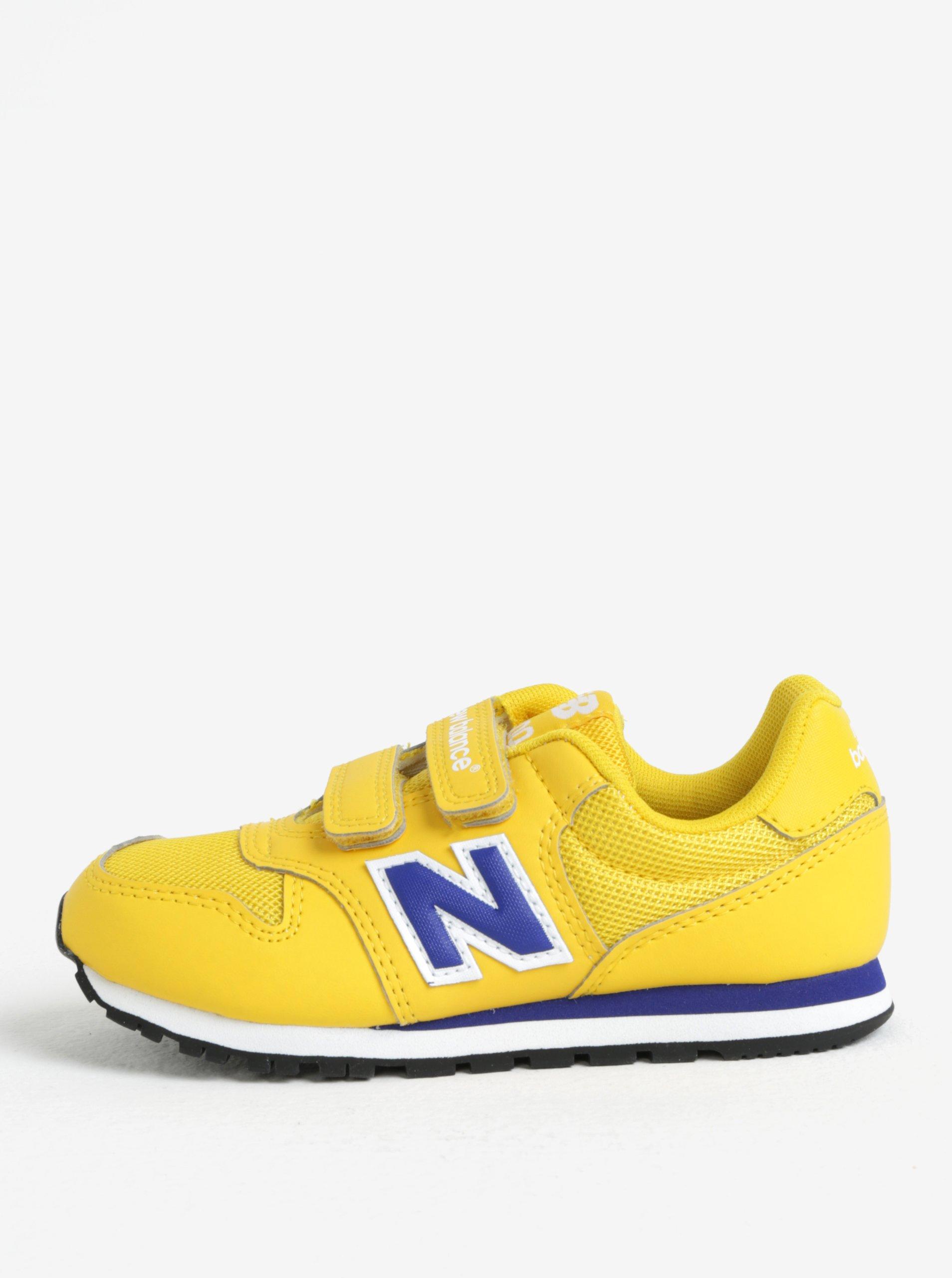 Žluté dětské tenisky na suchý zip New Balance